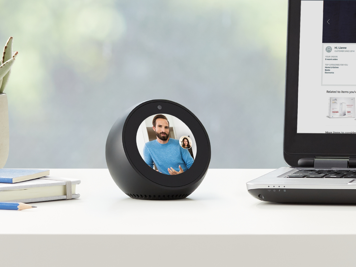 Echo Spot on desk