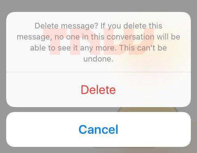 Facebook delete messages