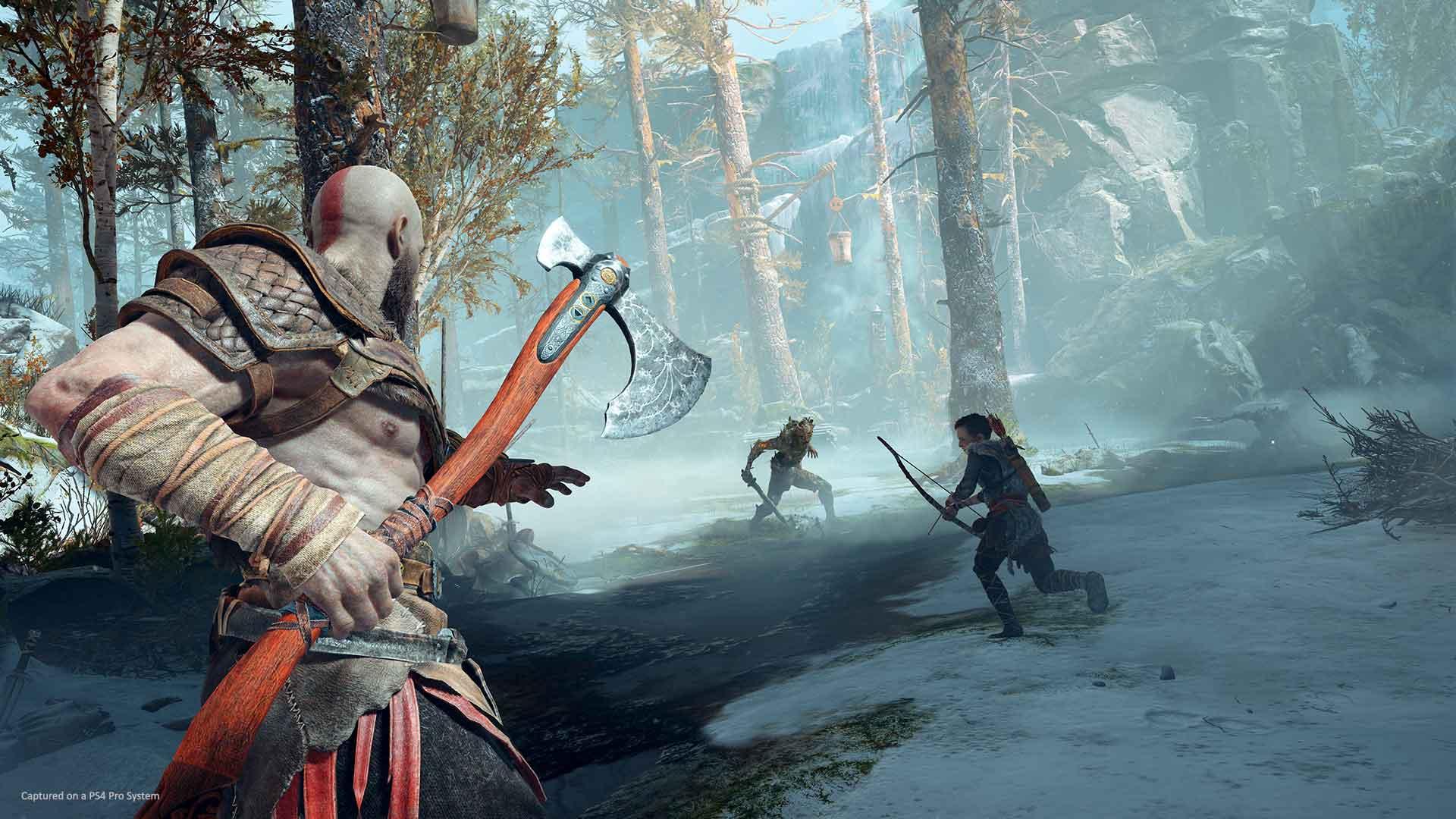 God of War Kratos Atreus combat