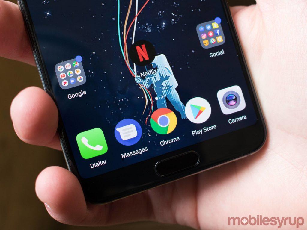 Huawei P20 Pro home button