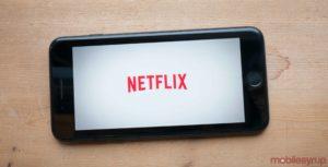 Netflix logo on phone