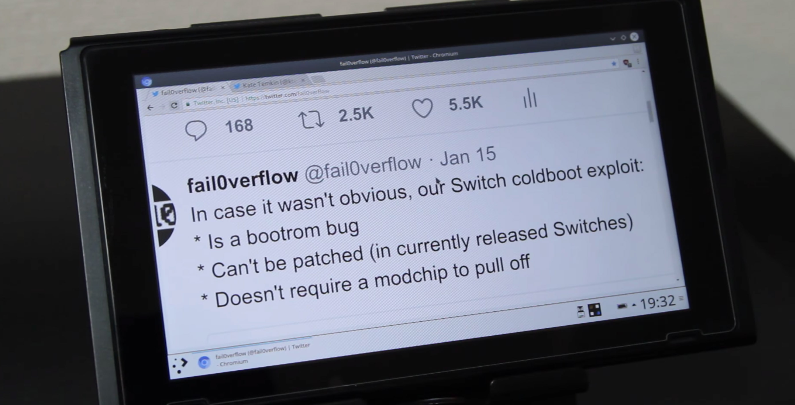 Every Nintendo Switch can run Linux and homebrew following release
