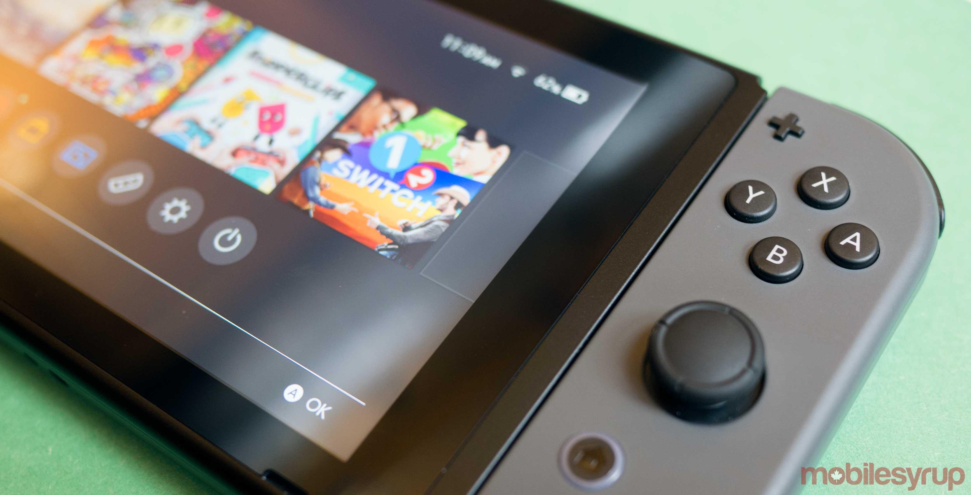 Nintendo Switch side view