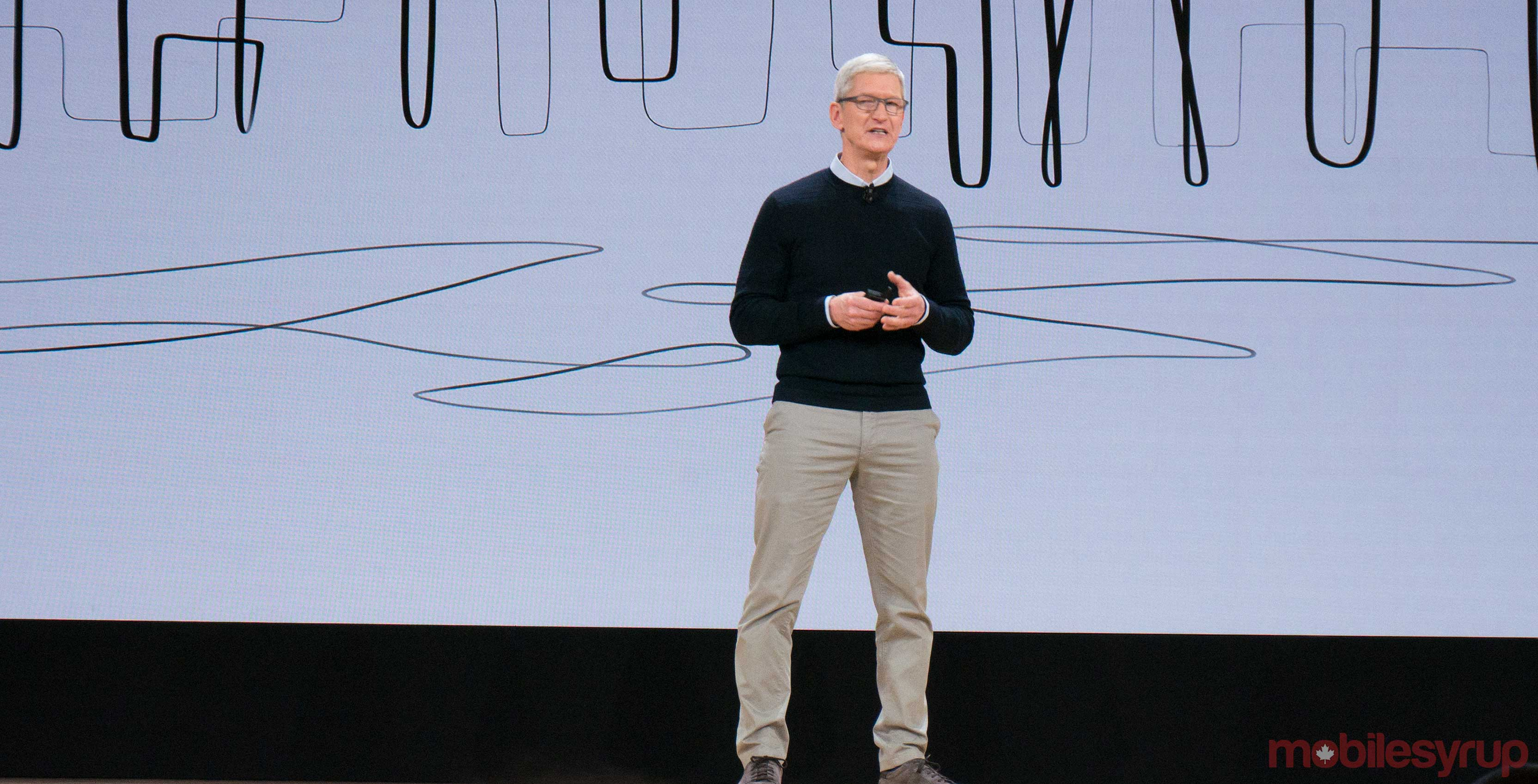 Tim Cook education event