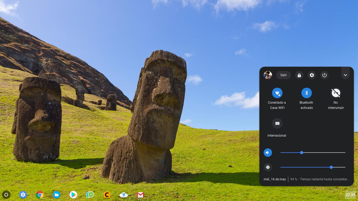 Chrome OS dark mode system tray is getting closer to its