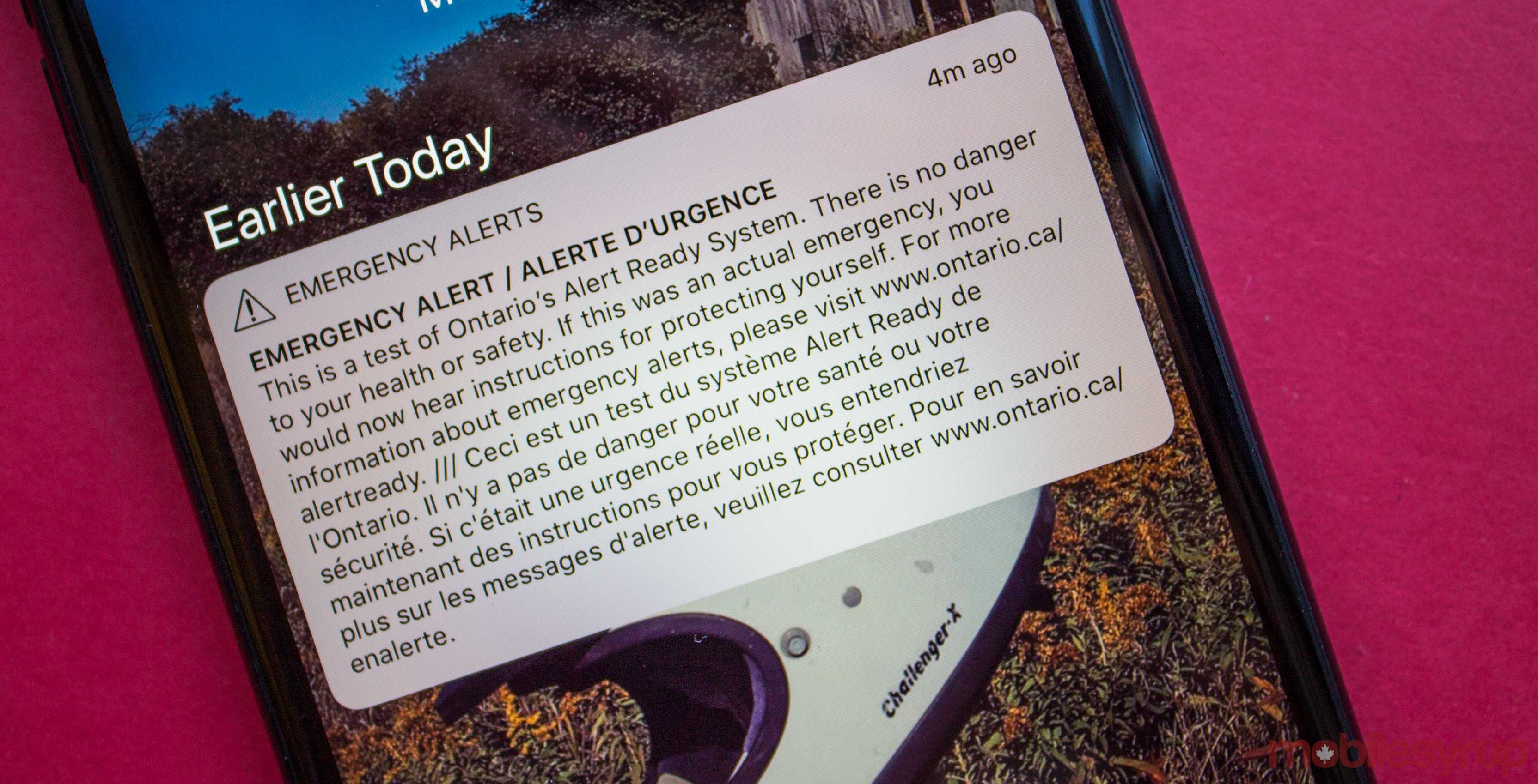 CRTC emergency alert