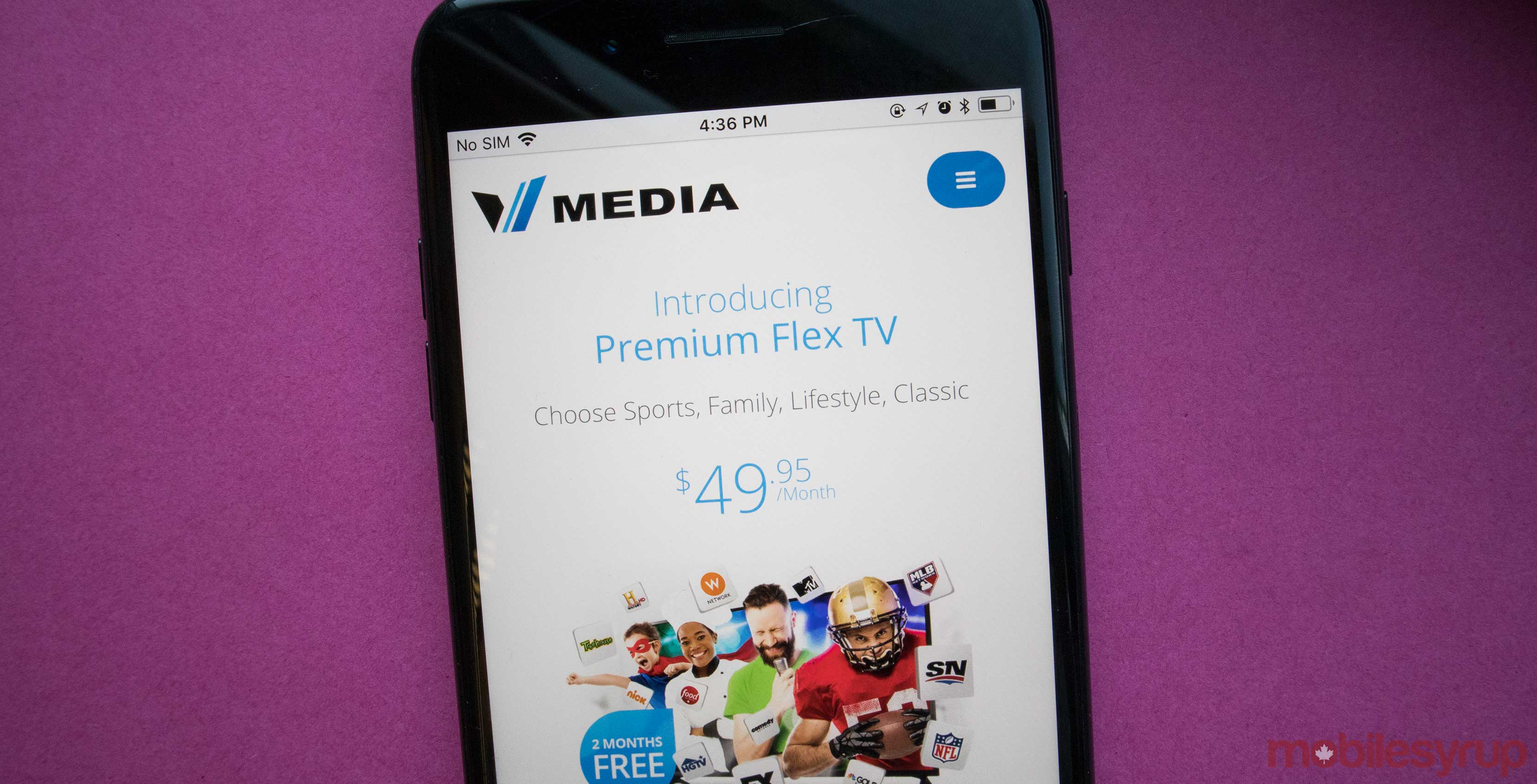Vmedia on phone