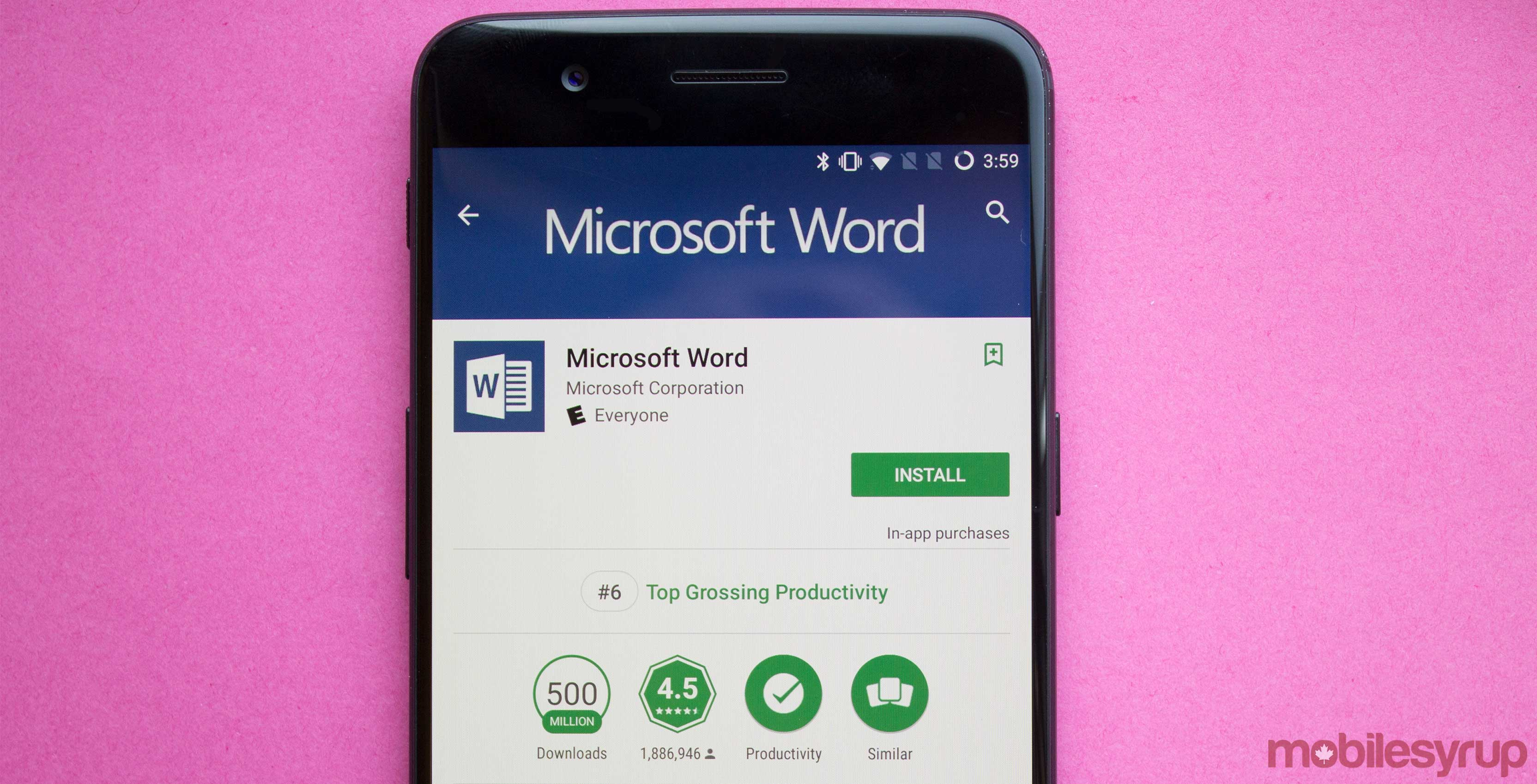 Microsoft's most popular Android app is Word