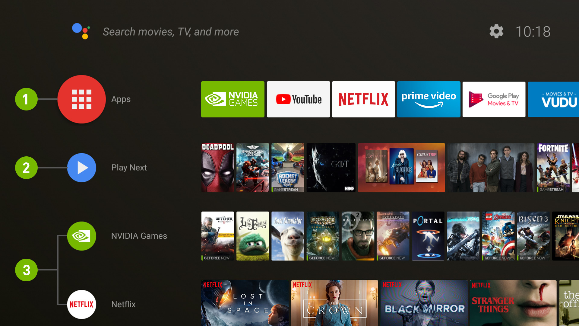 The Shield TV's new interface