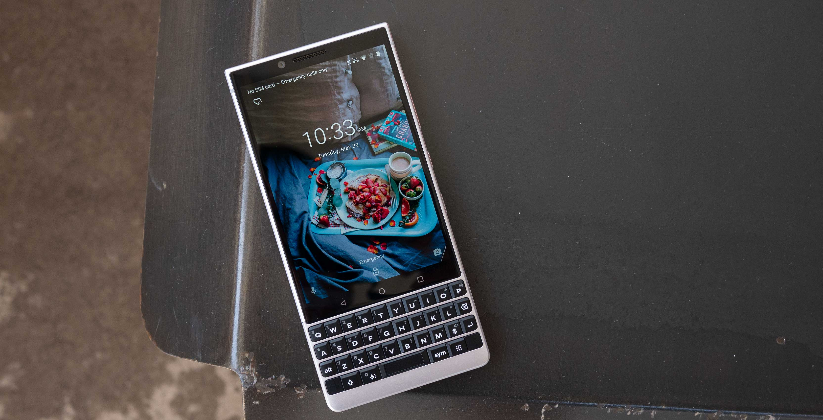 The BlackBerry Key2 smartphone packs extra security and a physical keyboard