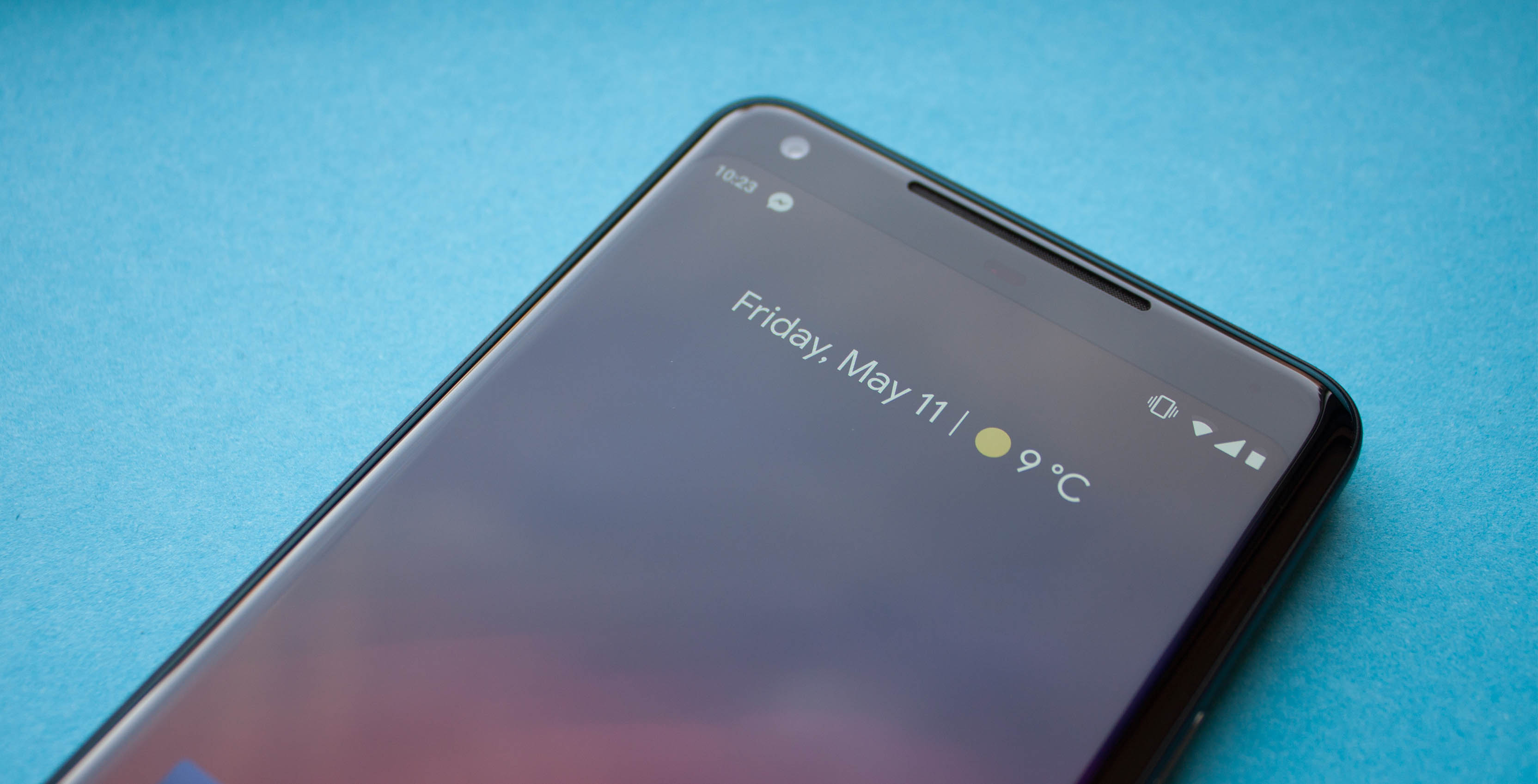 Google moved the clock for the notch in Android P