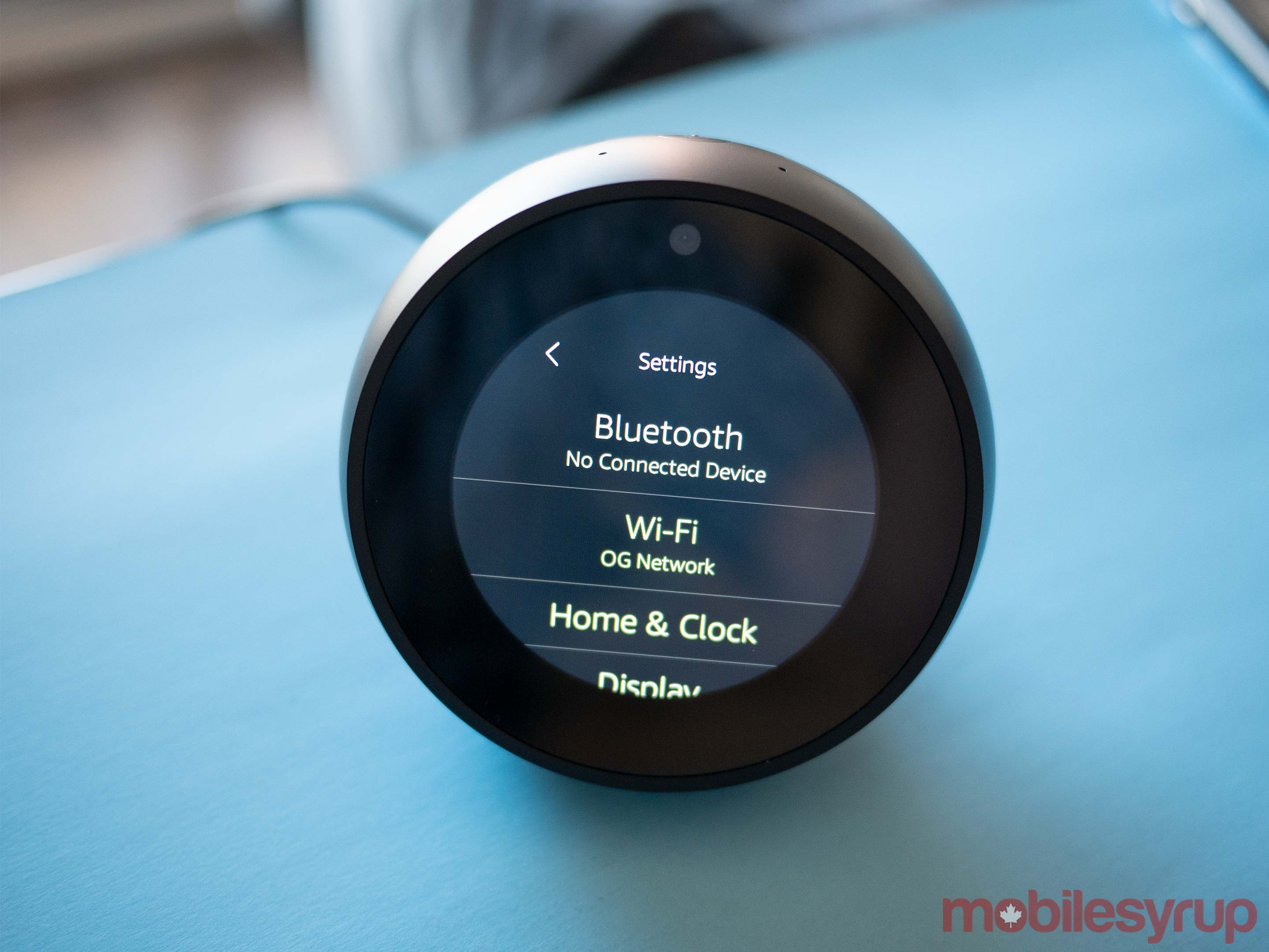 Echo Spot settings