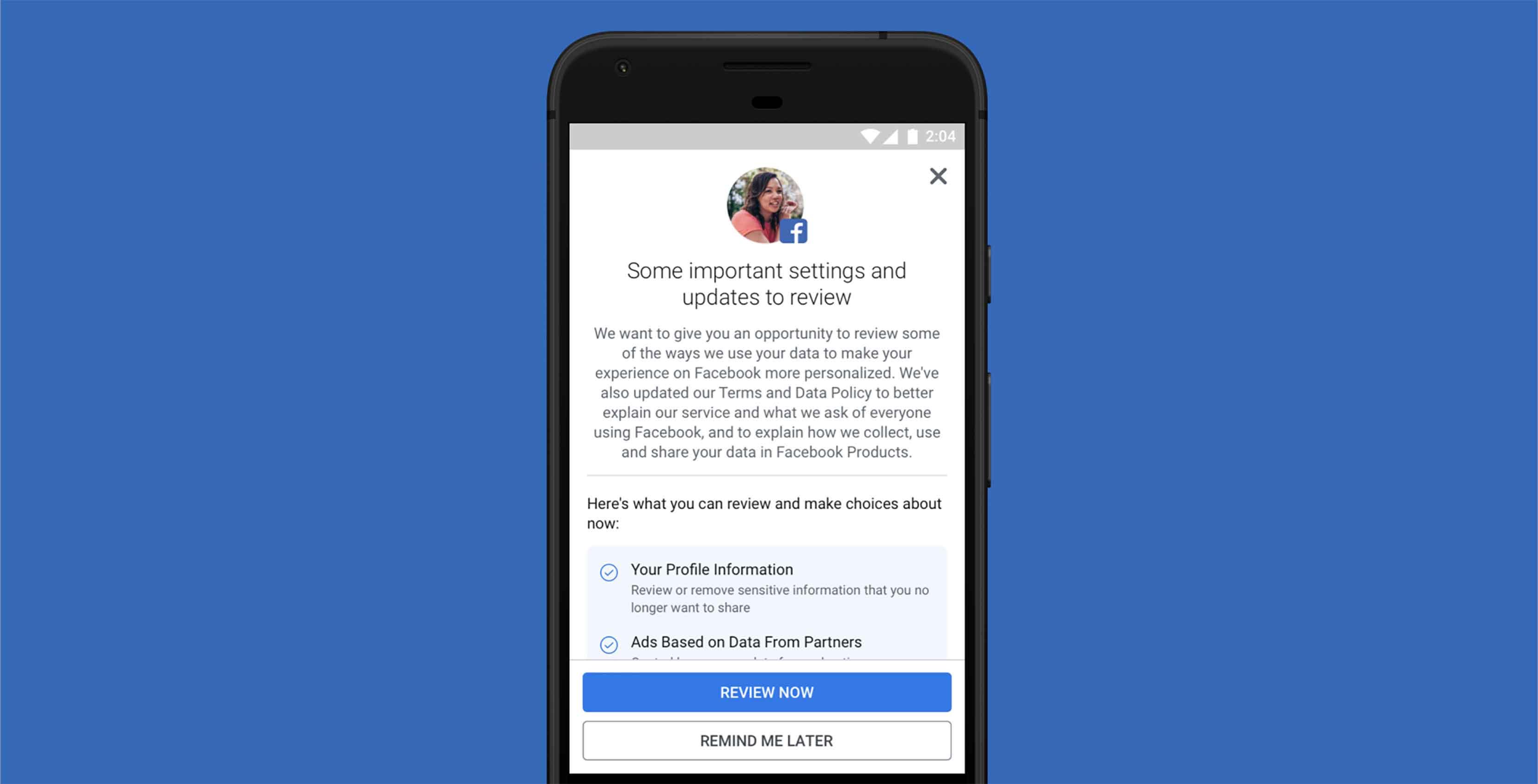 Facebook privacy alert
