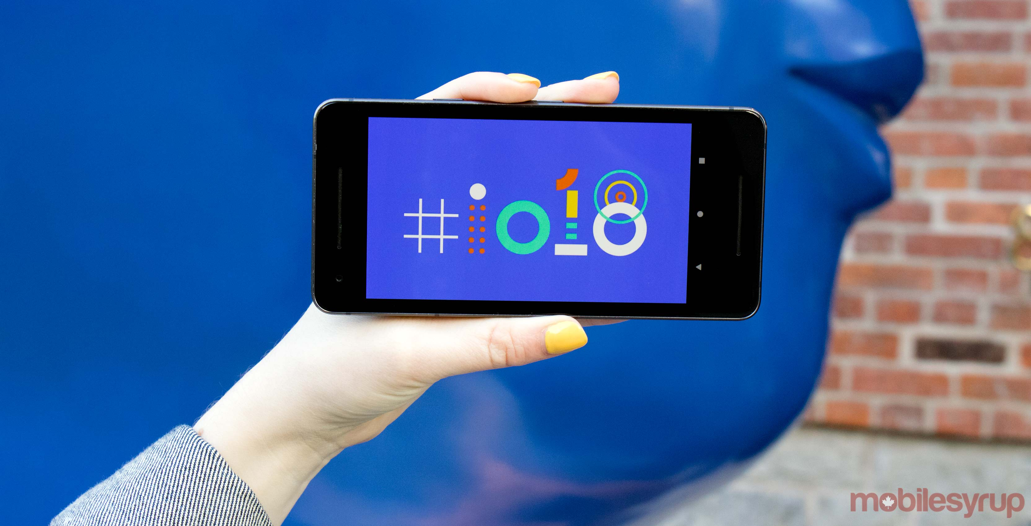 Google I/O logo on Pixel