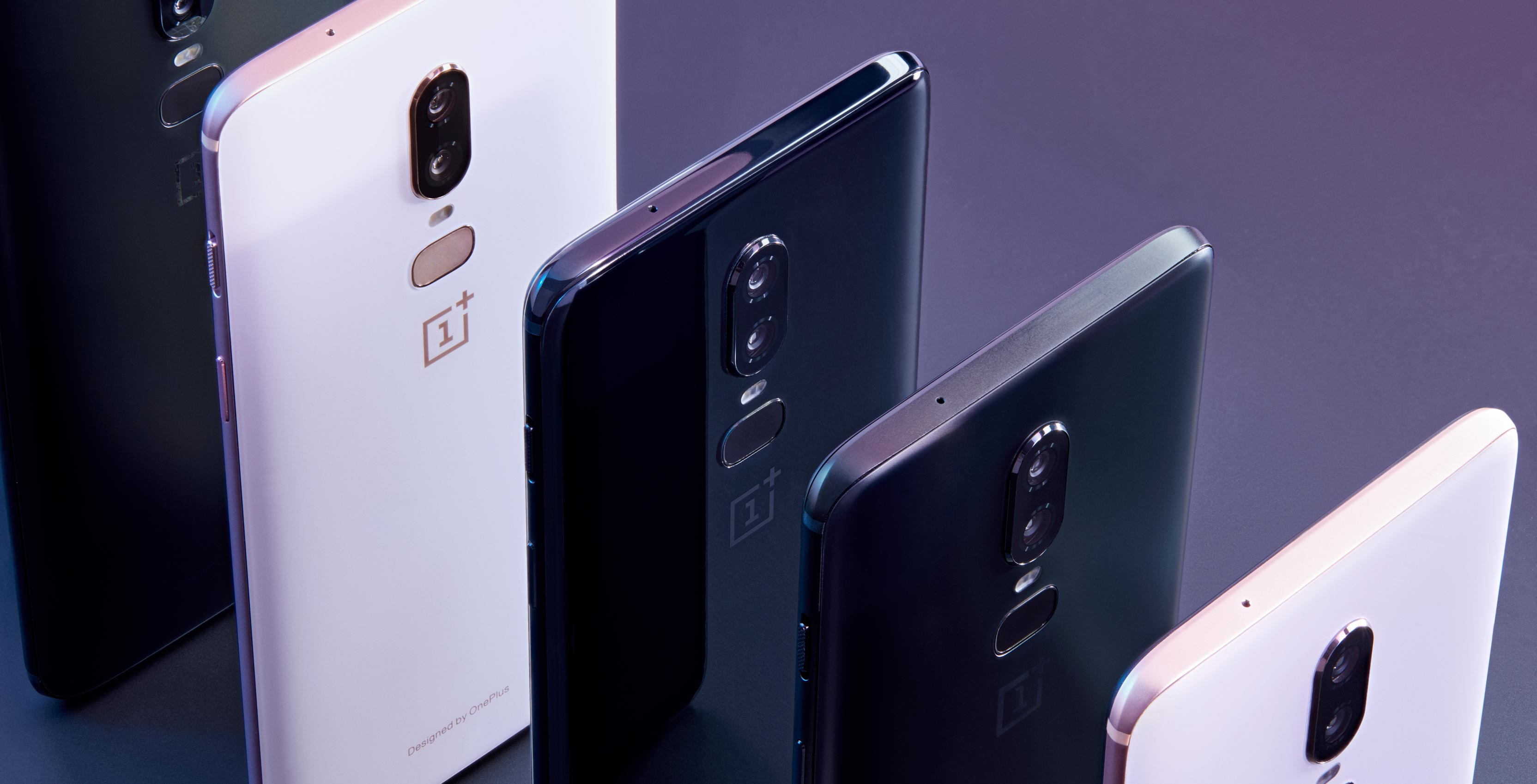 OnePlus 6 devices in a row