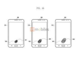 Patent showing Samsung's in-display fingerprint scanner