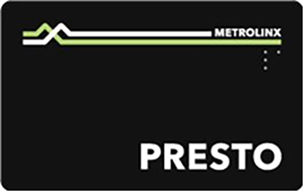 A black version of the presto card