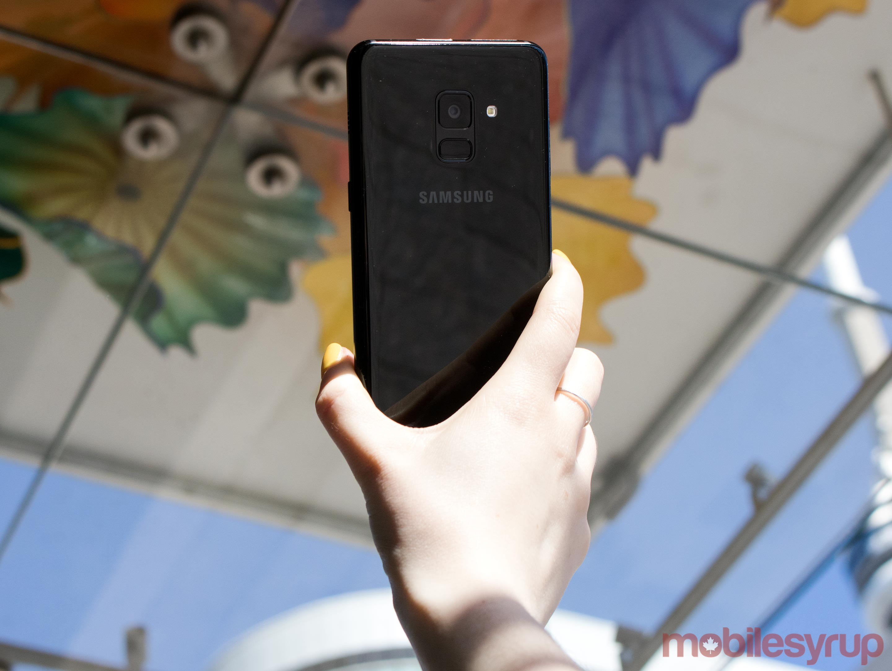 Samsung Galaxy A8: Flat, small and a mid-range selfie champ