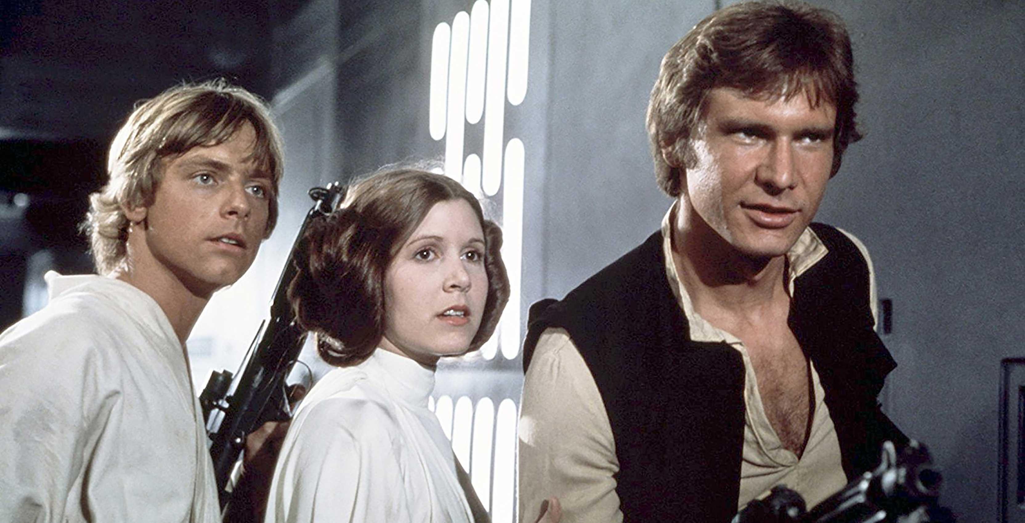 Star Wars A New Hope Luke Leia and Han
