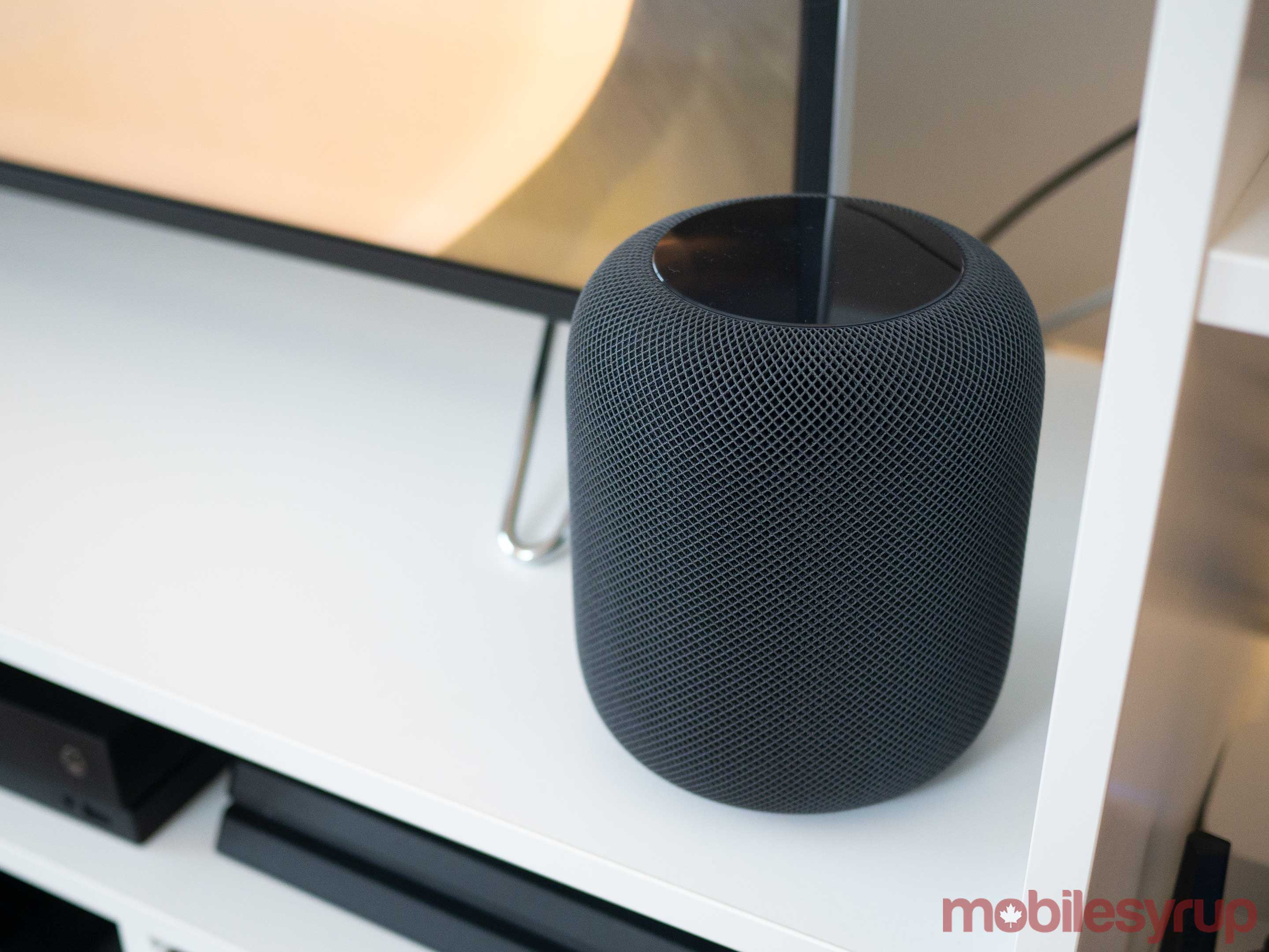 HomePod on table