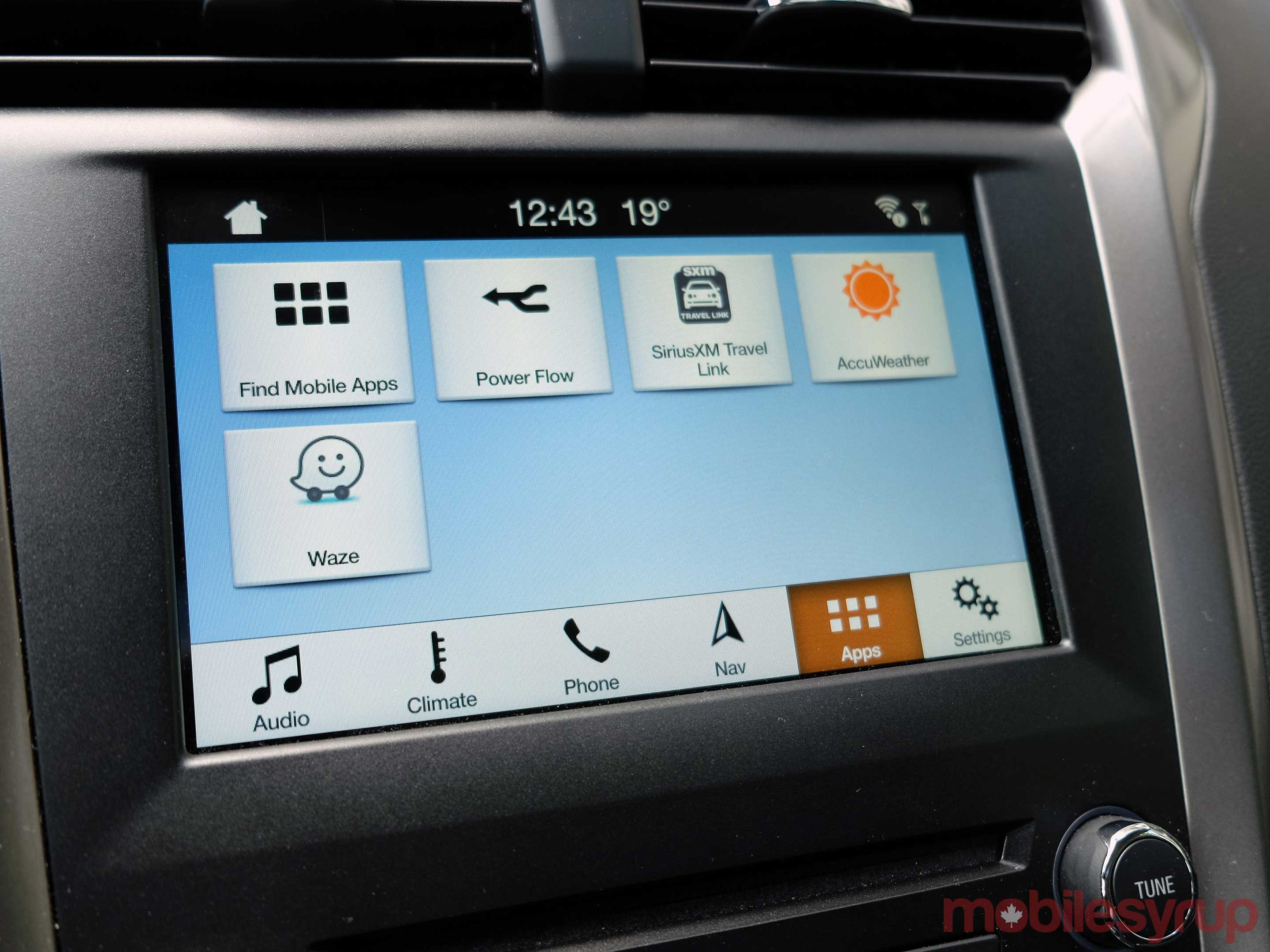 Waze Ford Sync AppLink screen