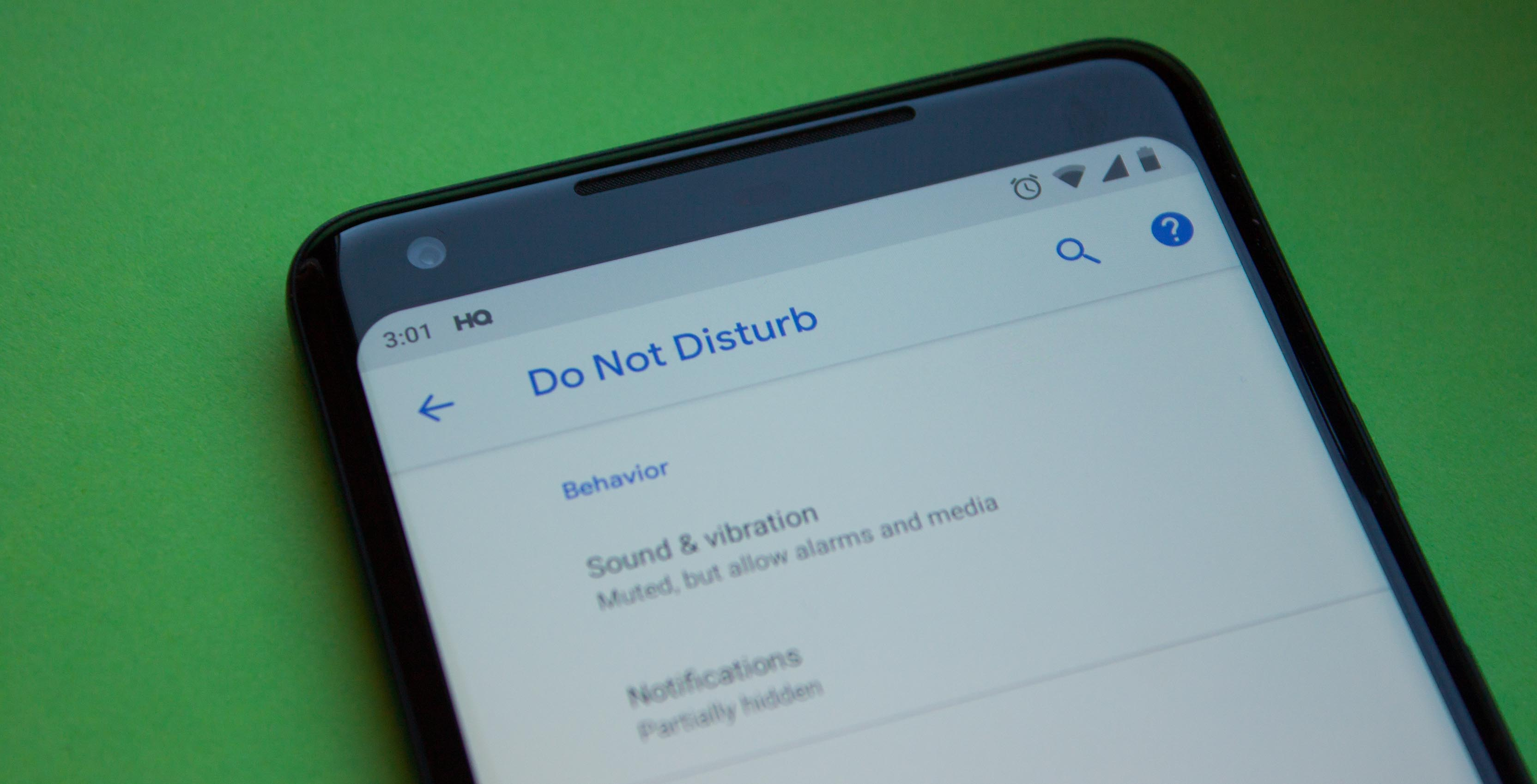 Do Not Disturb on Android P DP3
