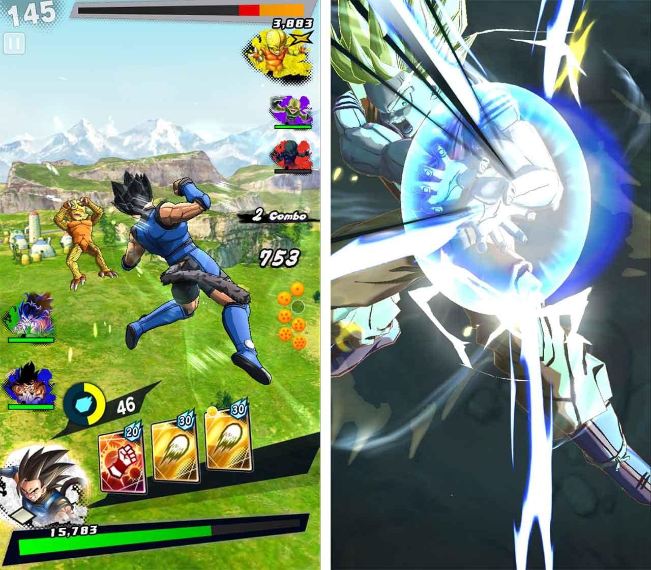 Dragon Ball Legends combat