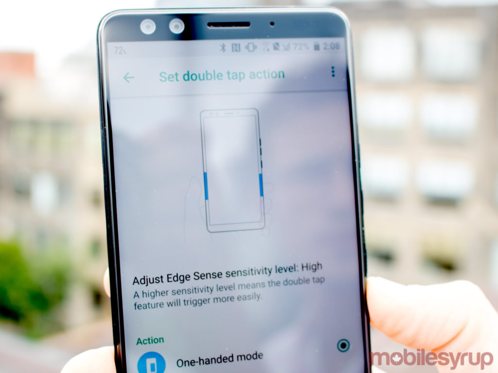 HTC U12+ edge sense