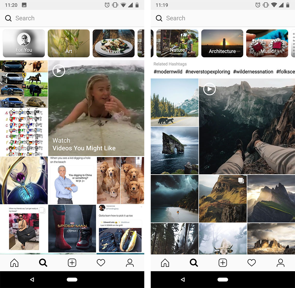 Instagram Explore Tab Gets Refresh Features New Topic