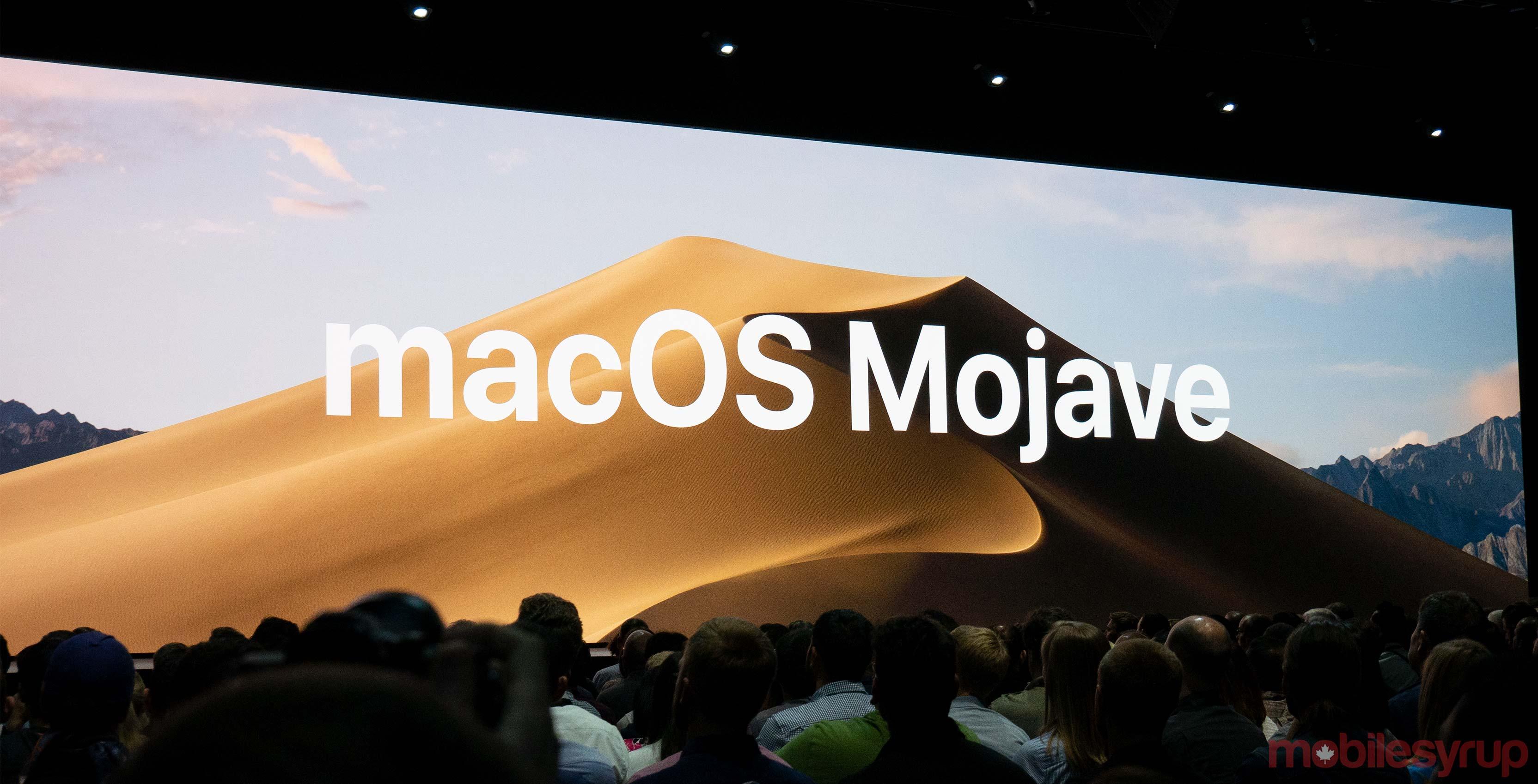 Apple announces macOS Mojave, redesigned app store, dark mode