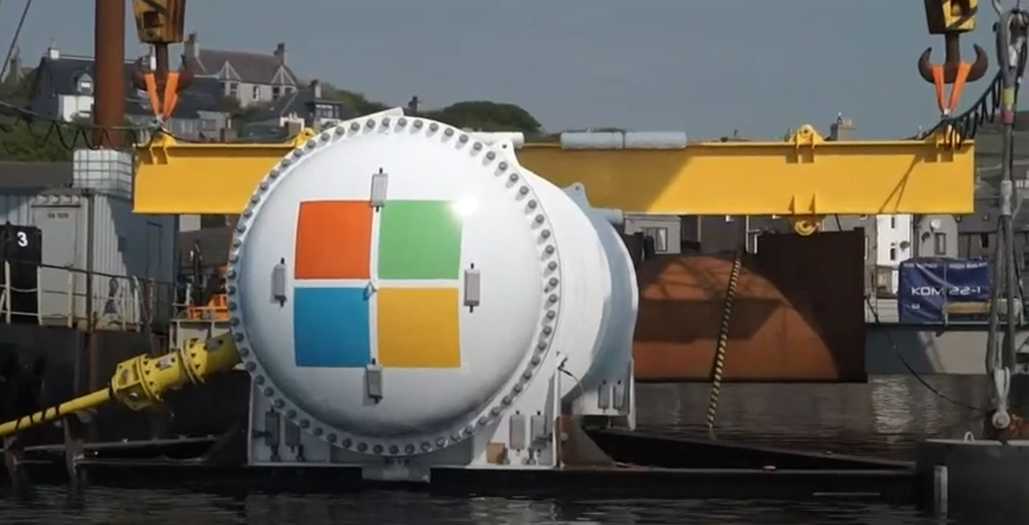 Underwater Microsoft data centre