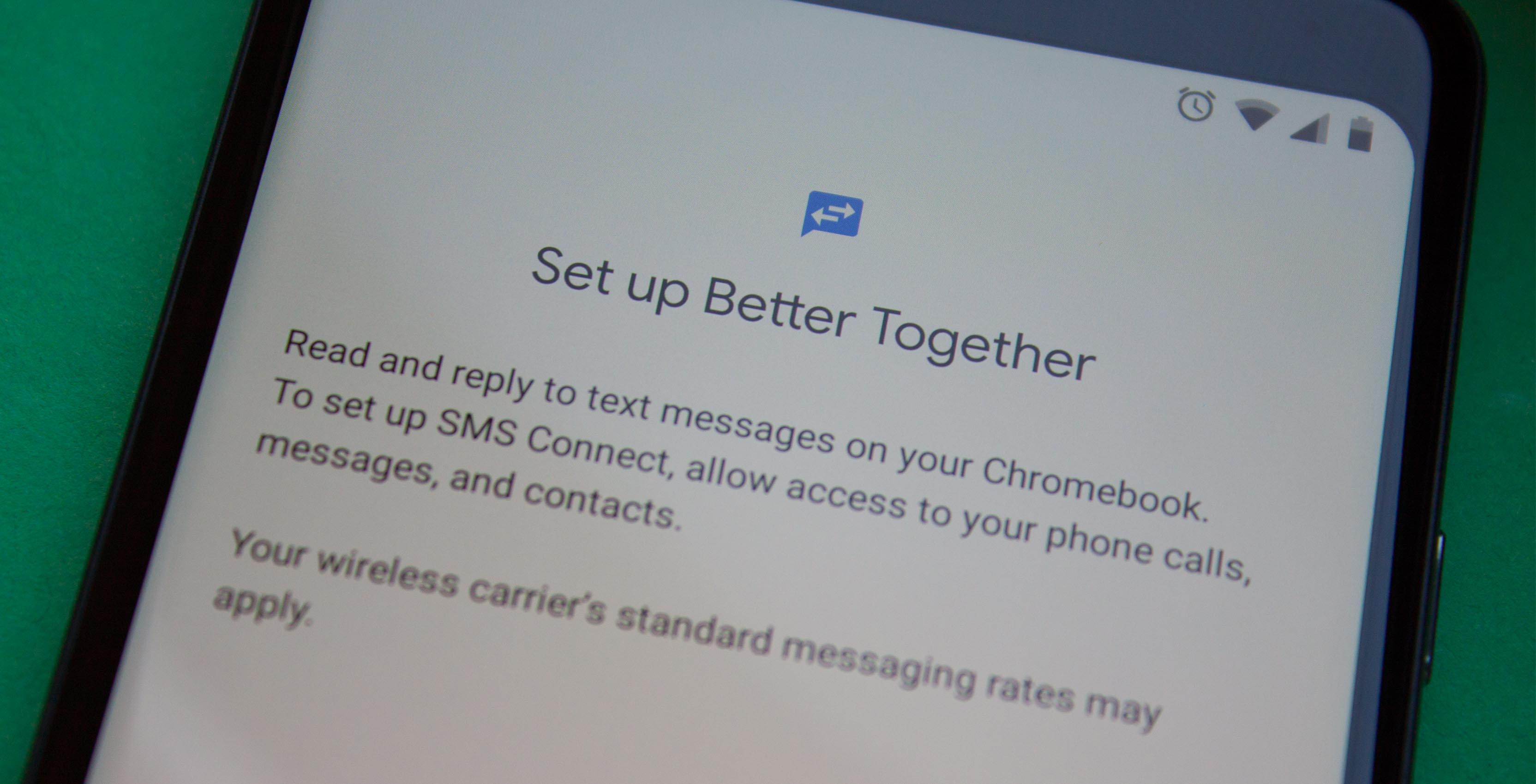 Better Together setup screen