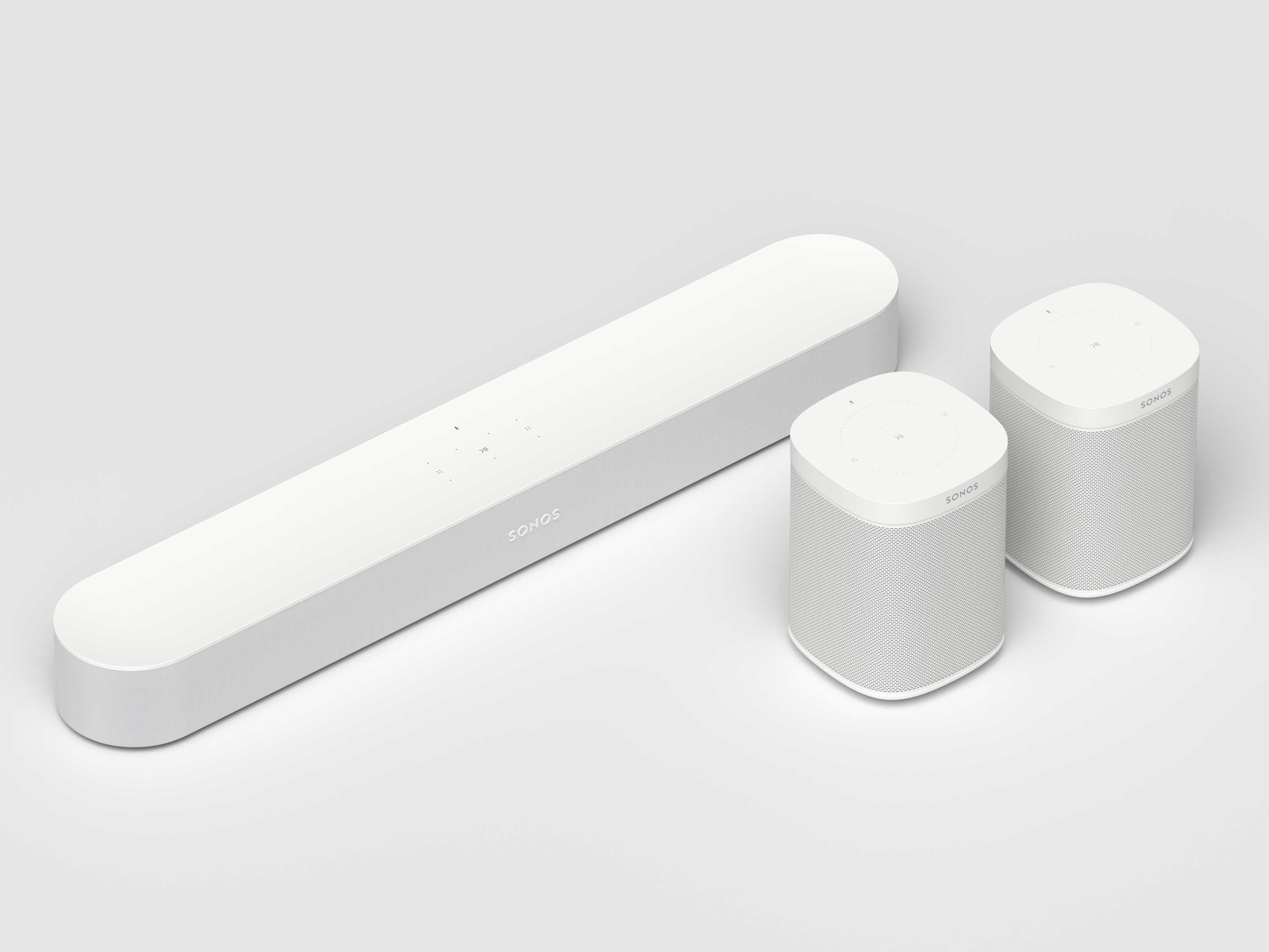 Sonos Beam with two Sonos One speakers