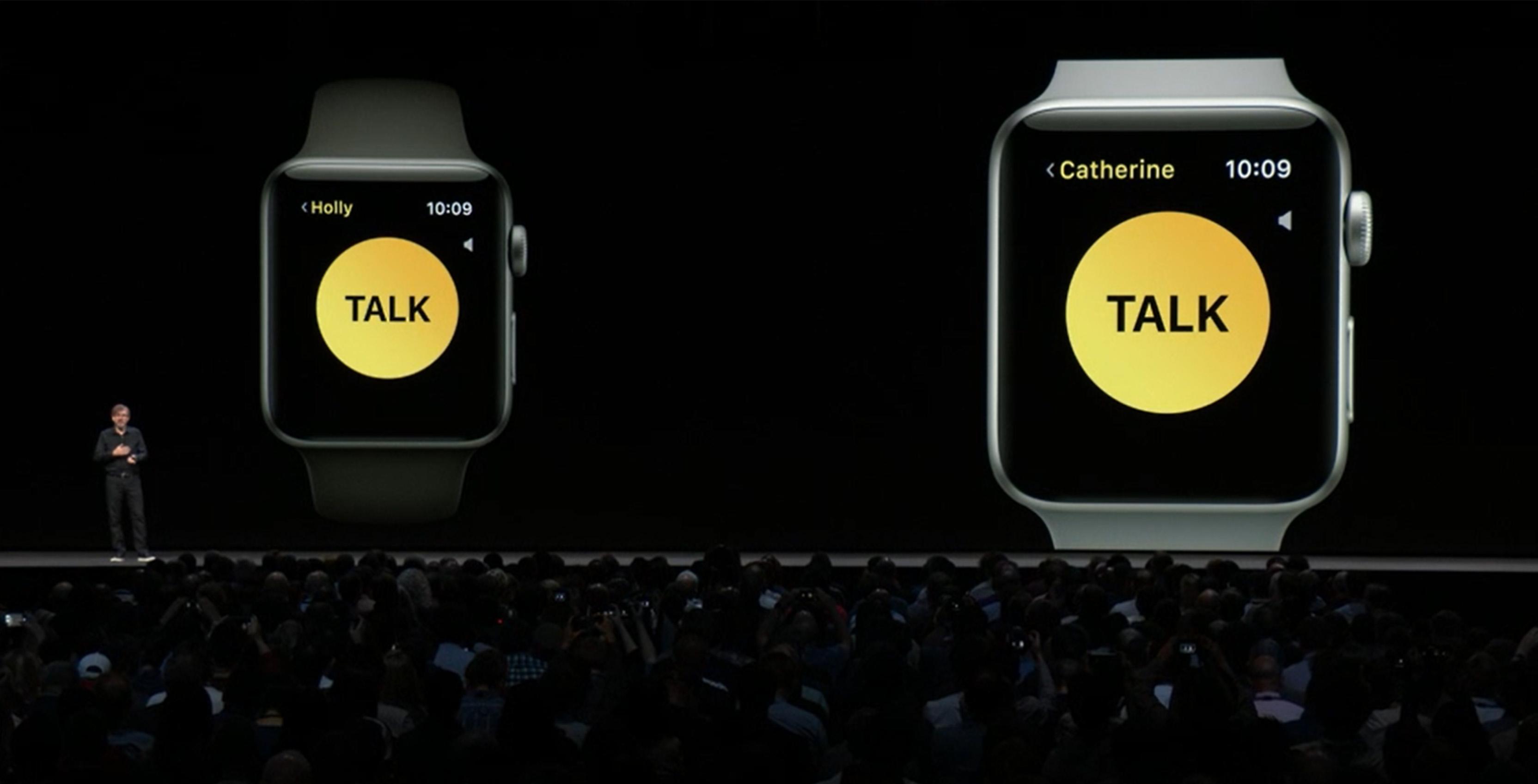 watchOS's new Walkie Takie app