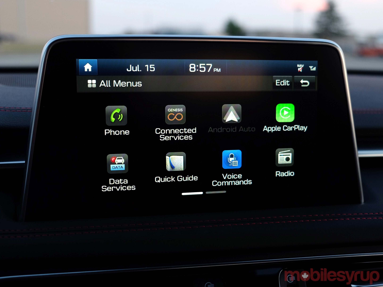 Hyundai Genesis G70 all menus