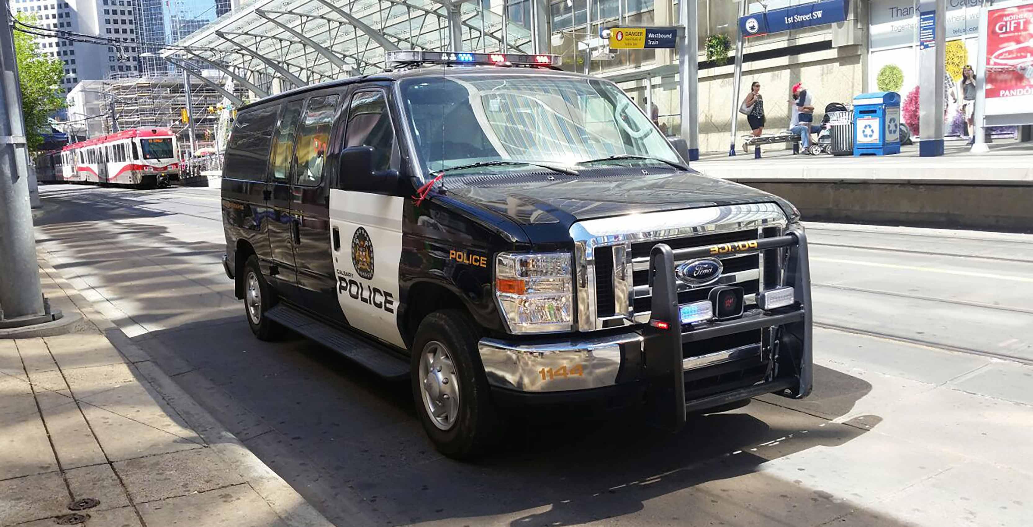 Calgary Police Service van