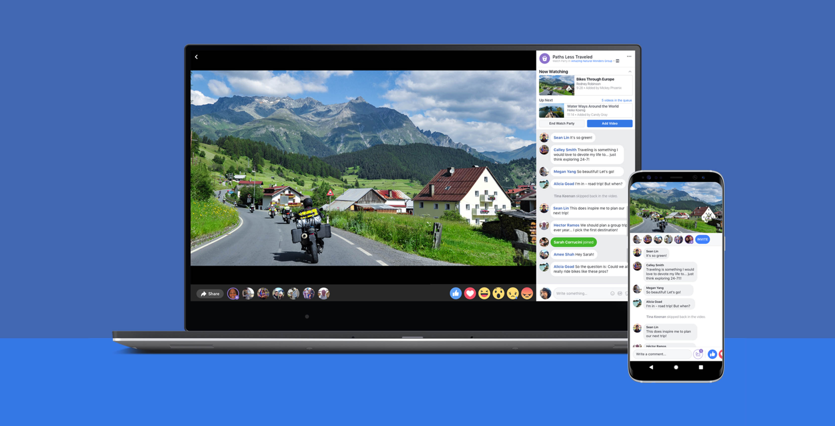 Facebook Watch Party on desktop and mobile