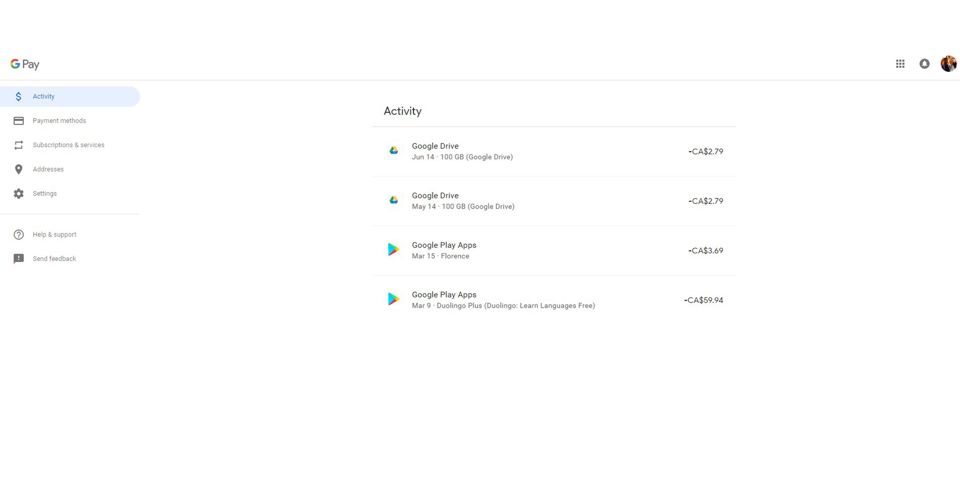 Google Pay's new web client