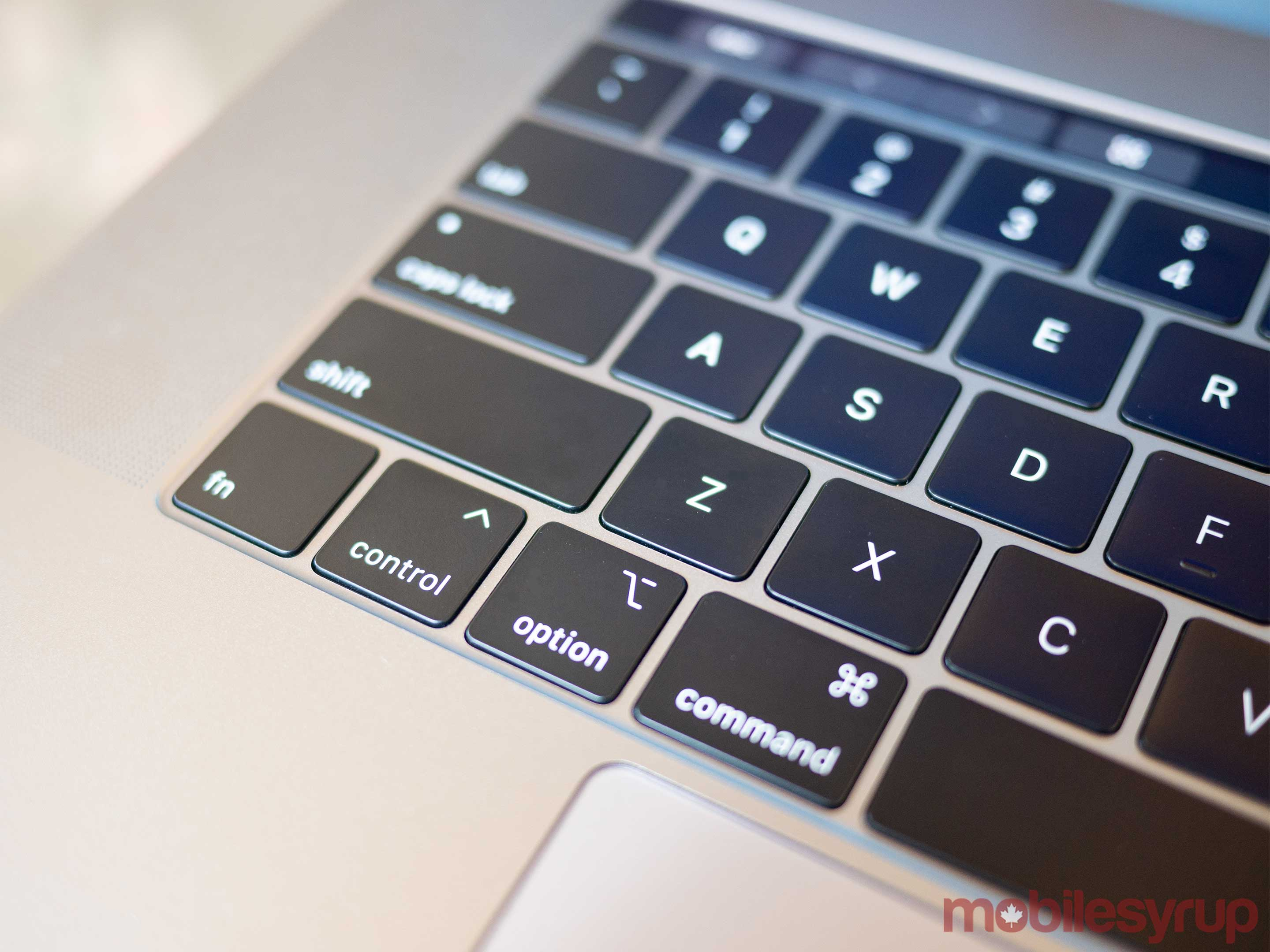MacBook Pro 2018 keyboard