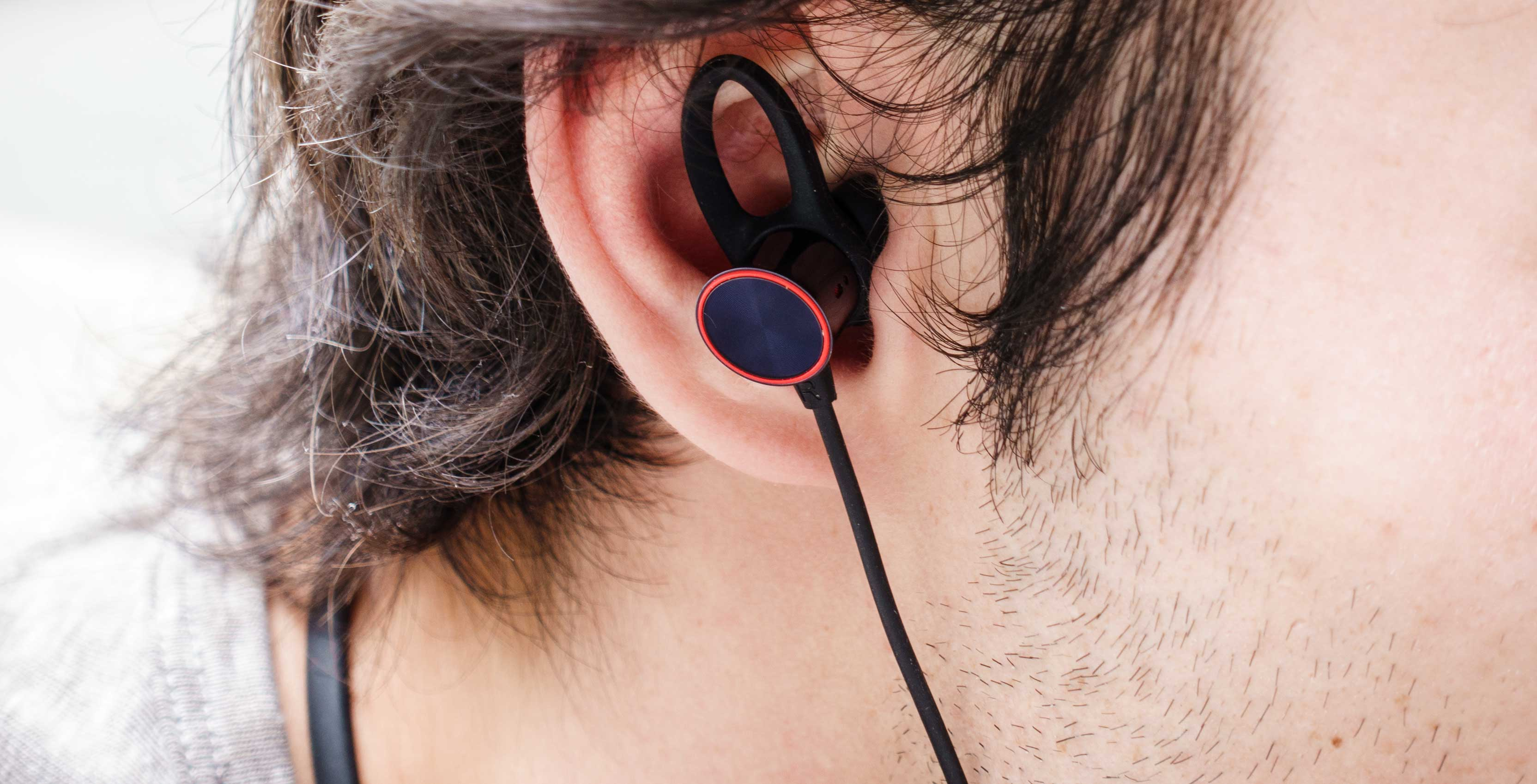 Closeup of the OnePlus Bullets Wireless