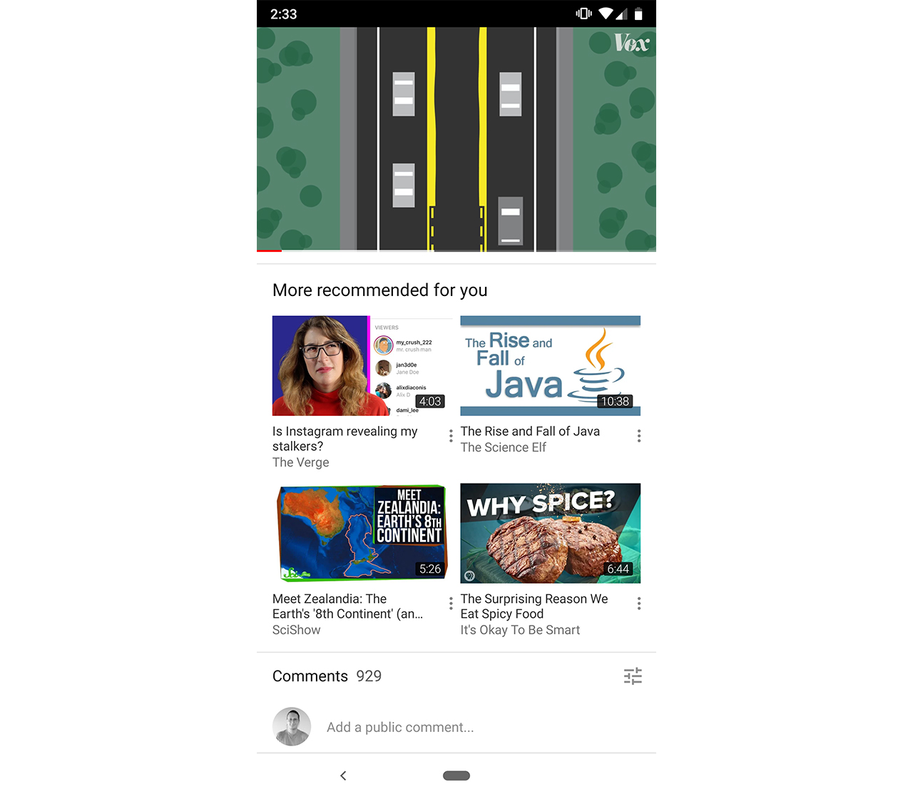 YouTube update breaks seek bar, adds new recommended section