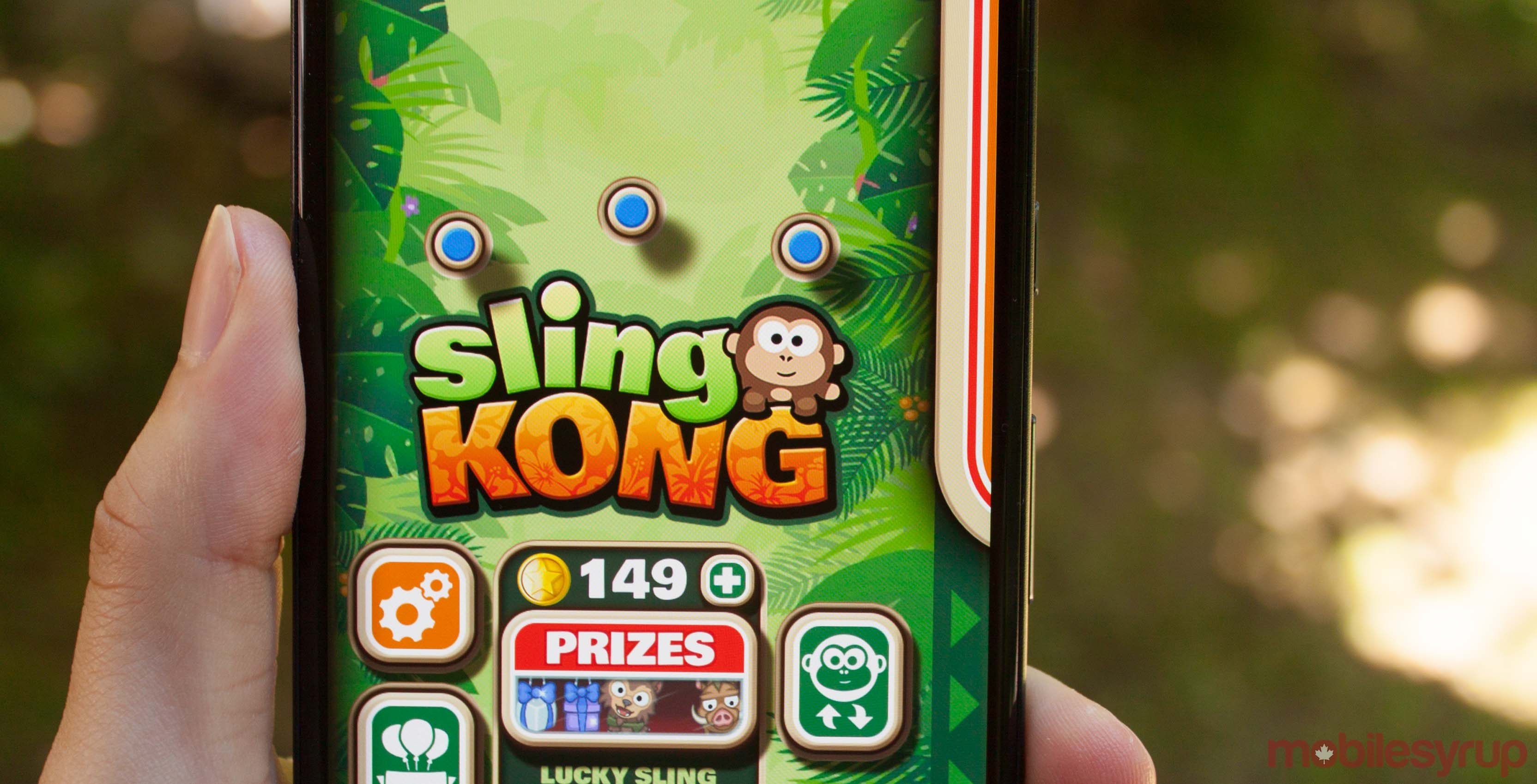 Sling Kong on a Pixel 2 XL