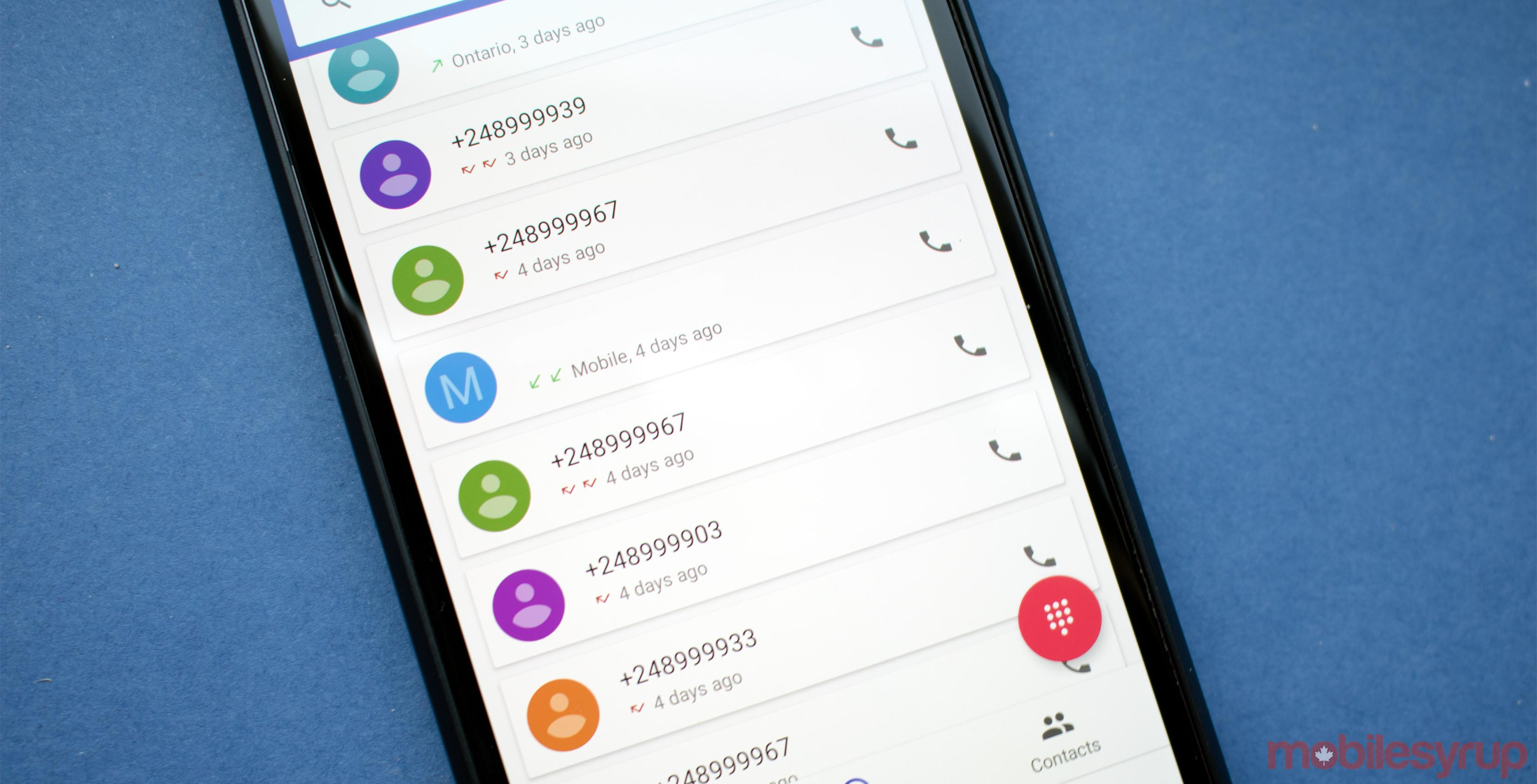 How to block specific area and country codes on Android