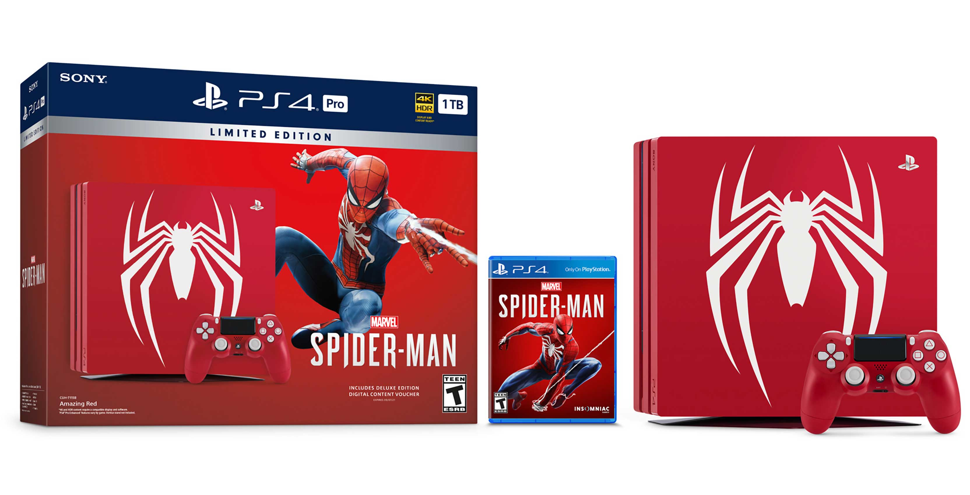 Sony Announces Limited Edition Spider Man Playstation 4 Pro