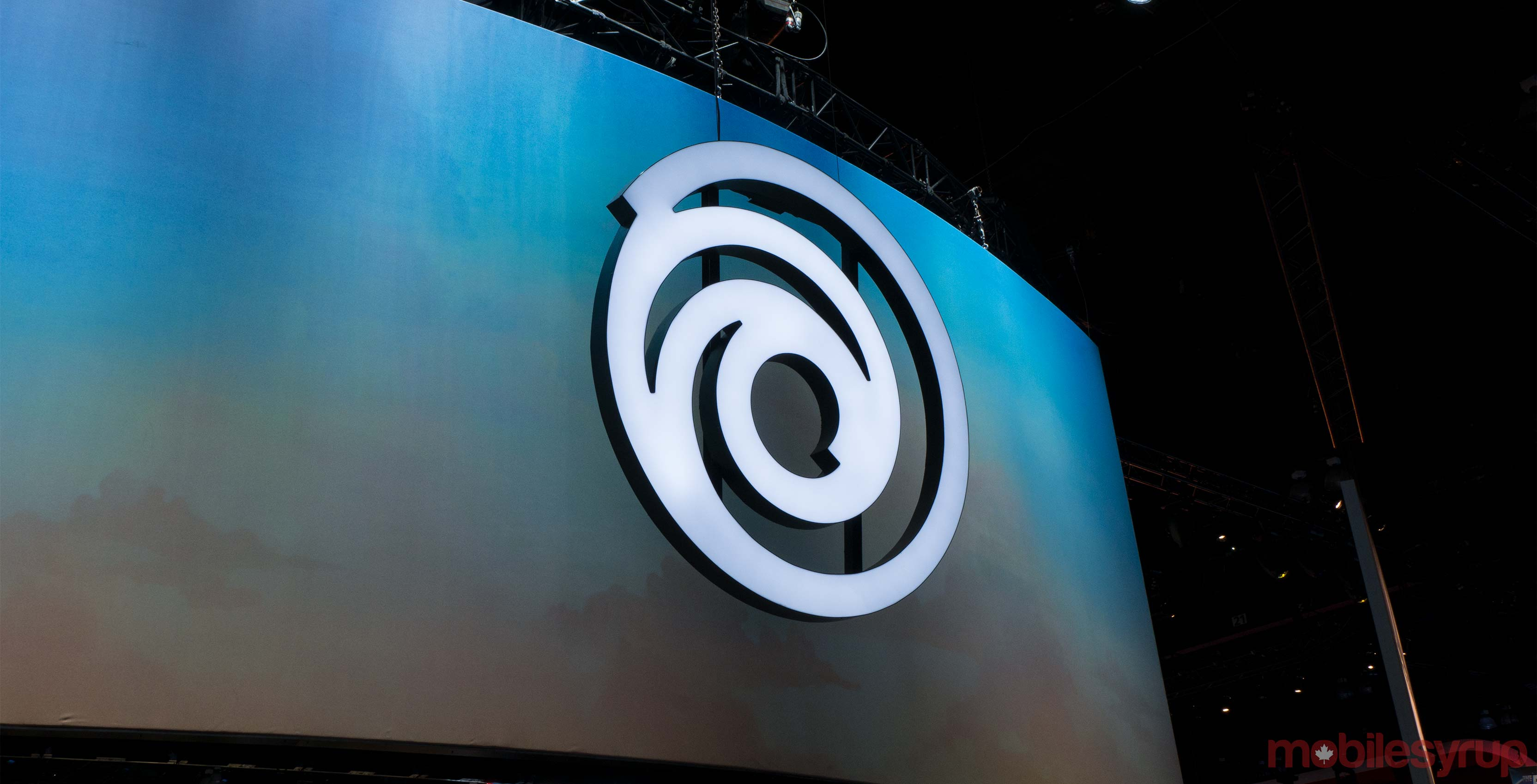 Ubisoft logo on wall