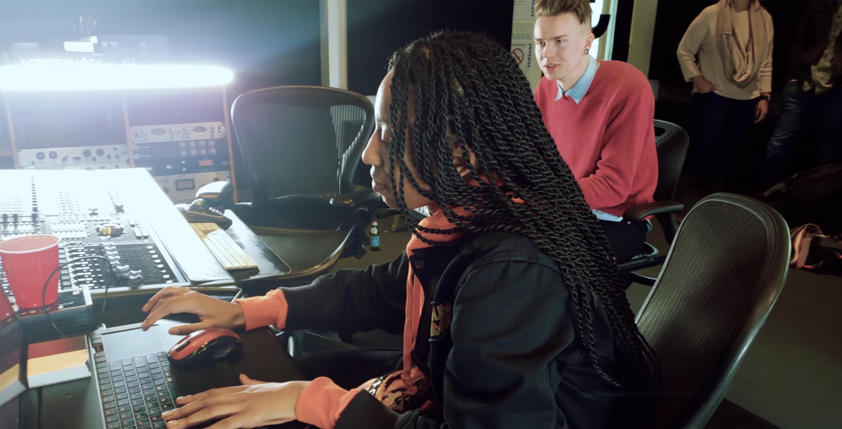 Canadian Producer WondaGurl during the Samsung Studio Session