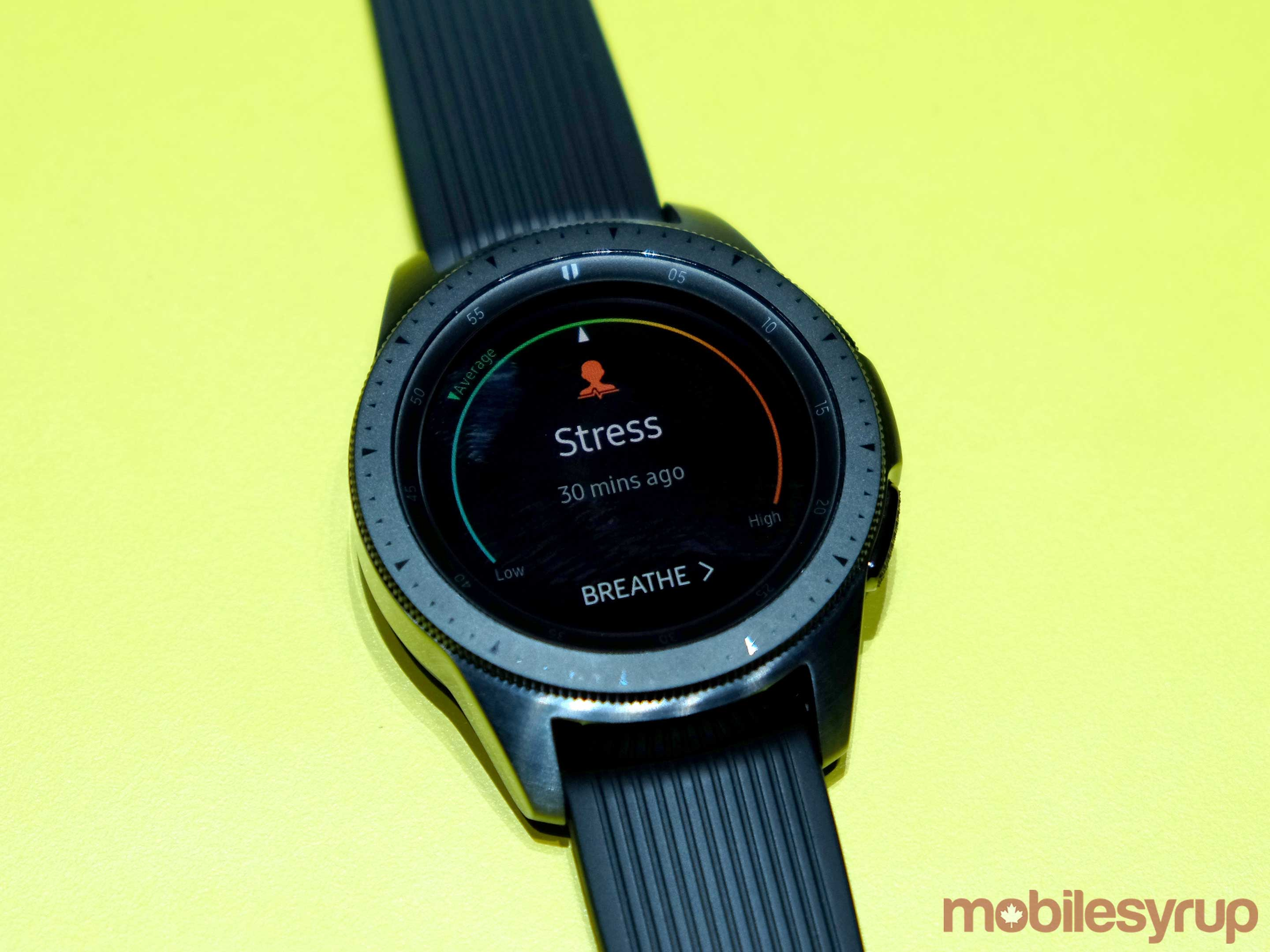 Galaxy Watch stress measure
