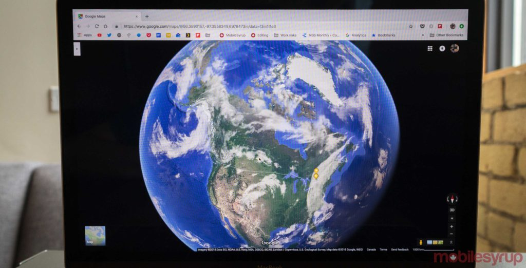 Google Maps has been updated to include a globe view