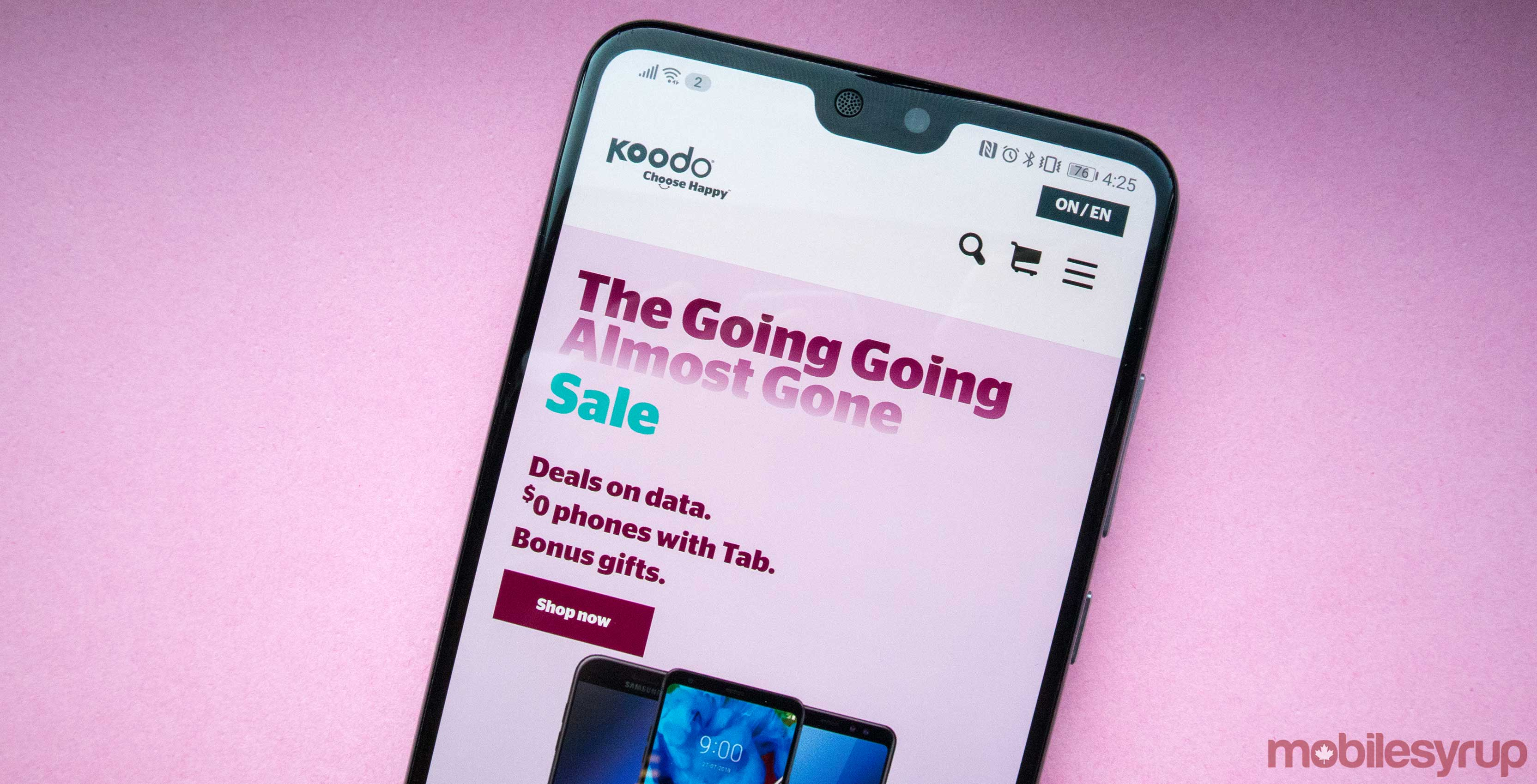 Koodo offers customers an extra 10GB of data for $15 via