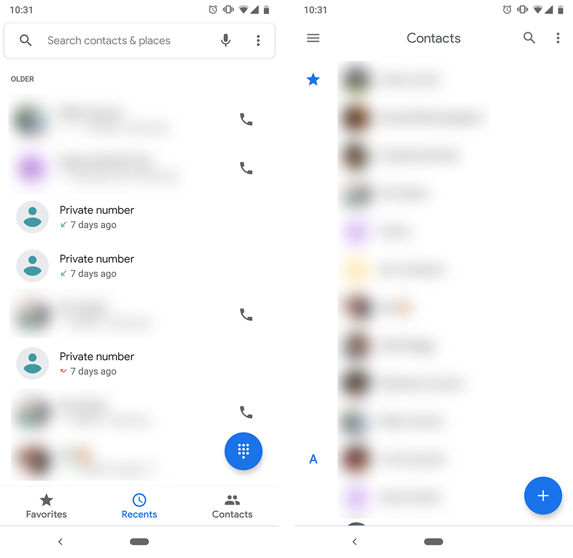 Google Phone and Contacts